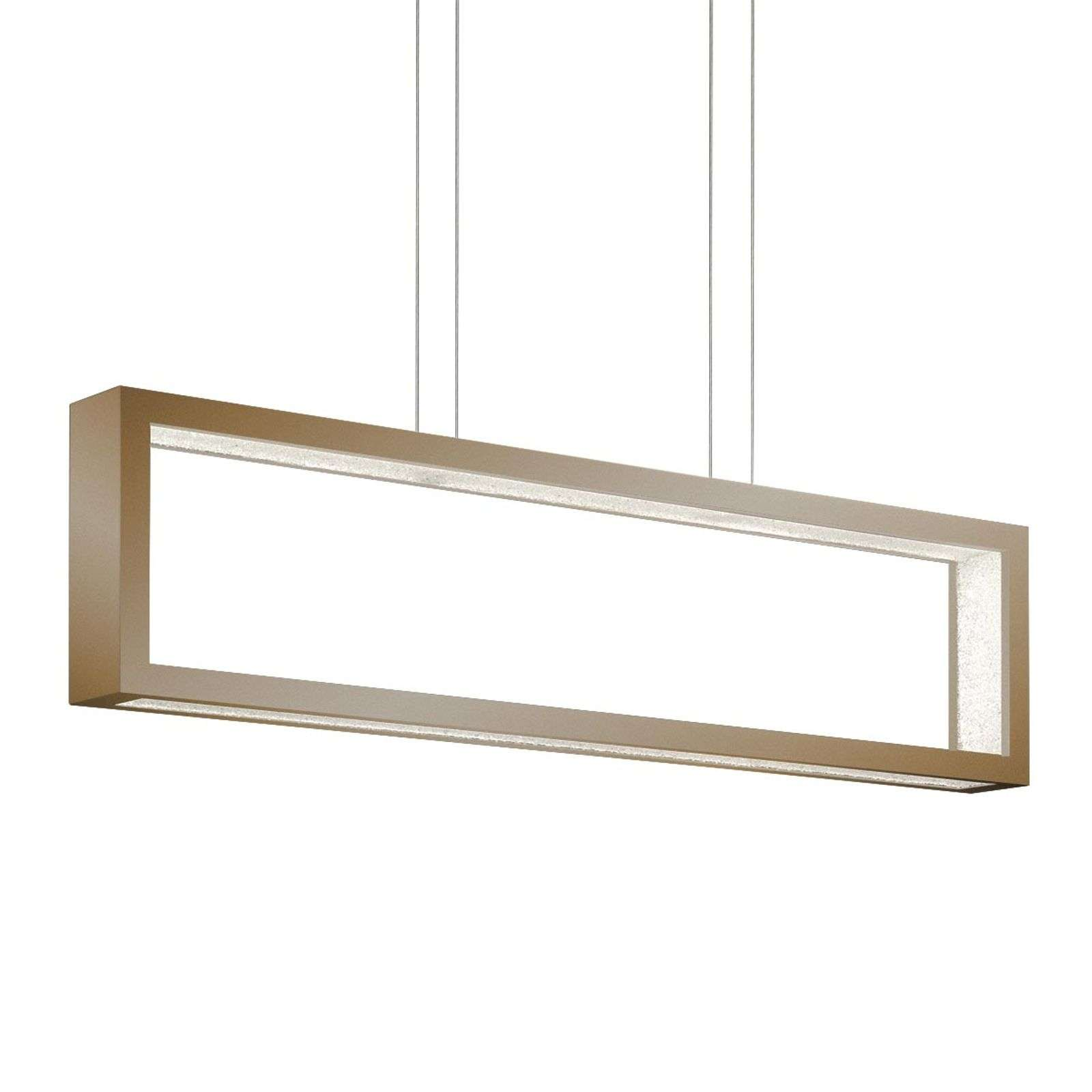 Suspension cristal LED Revealed Open, bronze