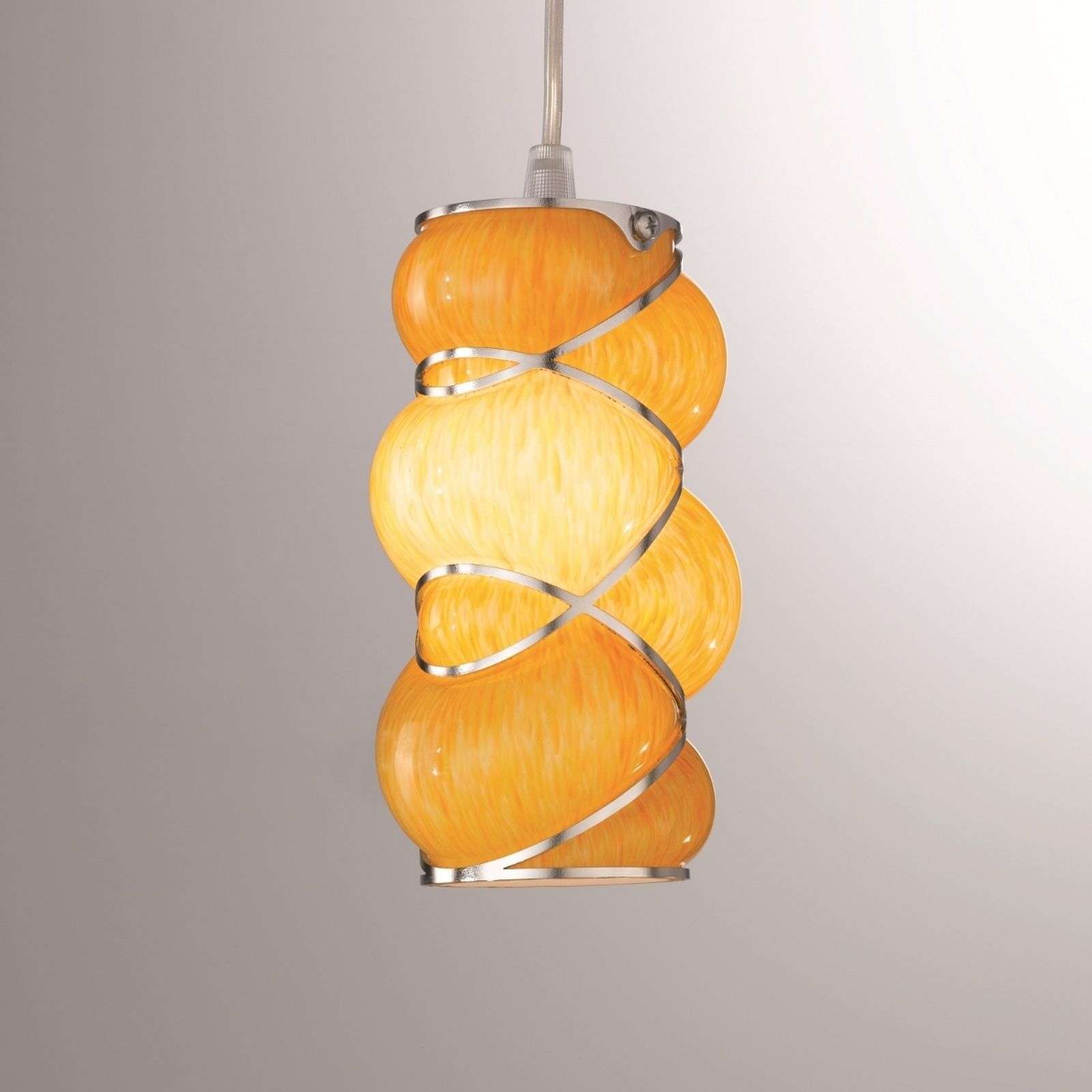 Suspension raffinée Orione orange