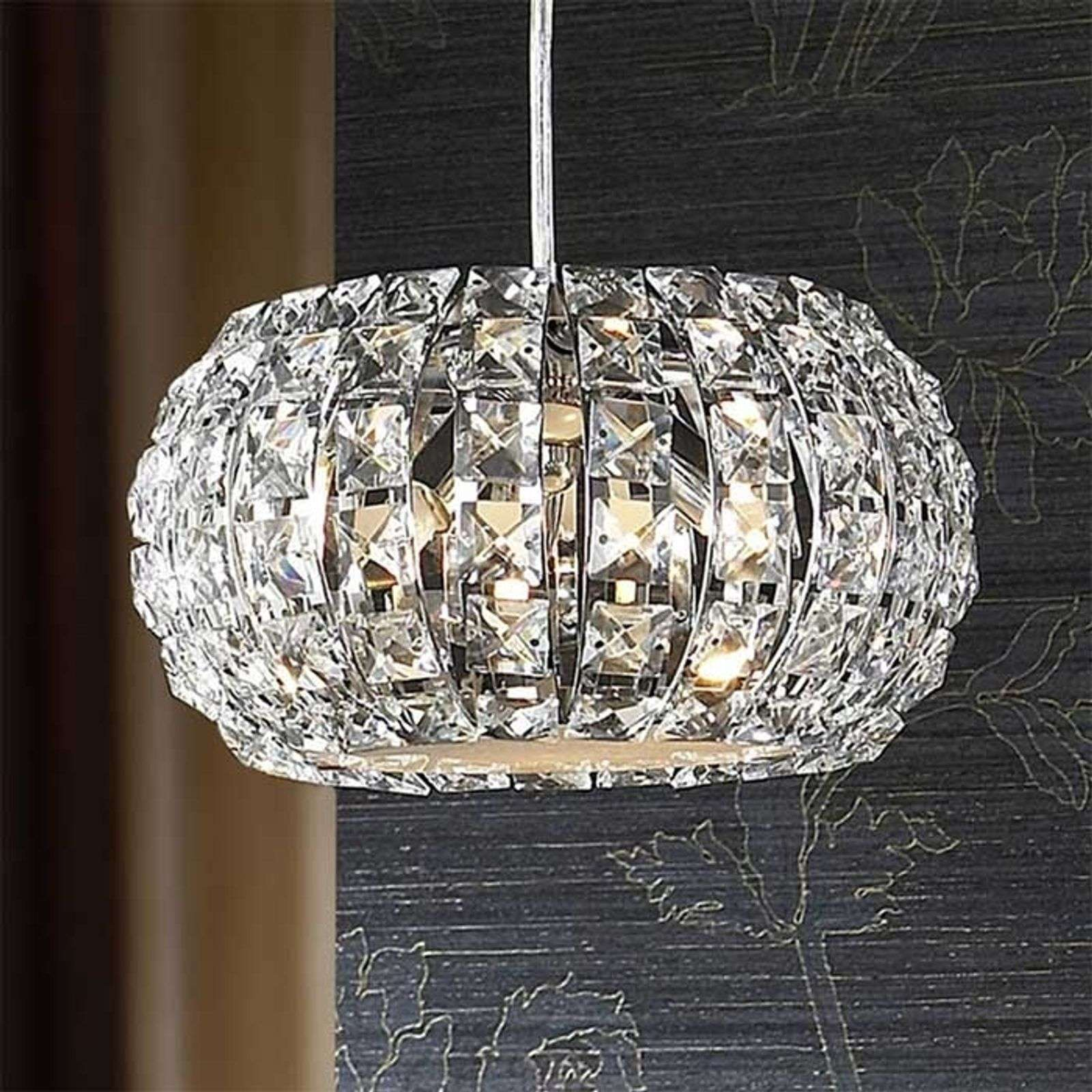 Petite suspension DIAMOND en cristal ronde