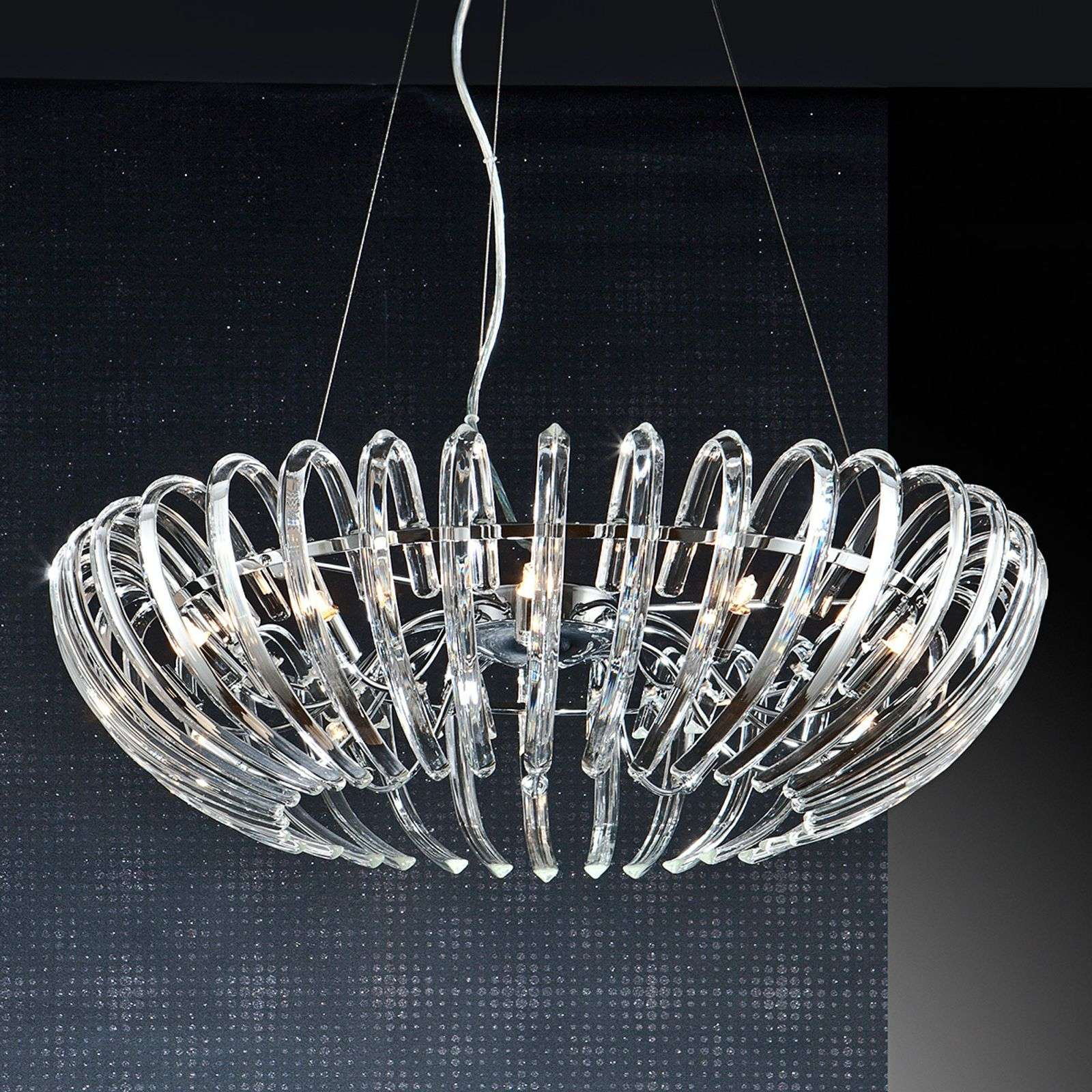 Suspension en cristal transparent Ariadna - 66 cm