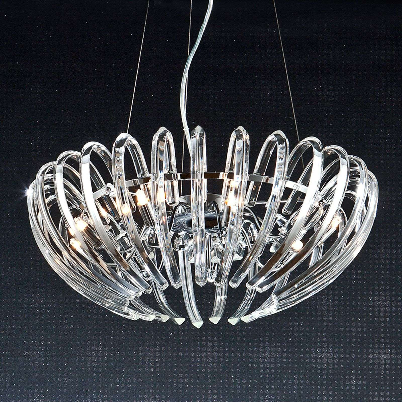 Suspension cristal Ariadna transparent, 53 cm