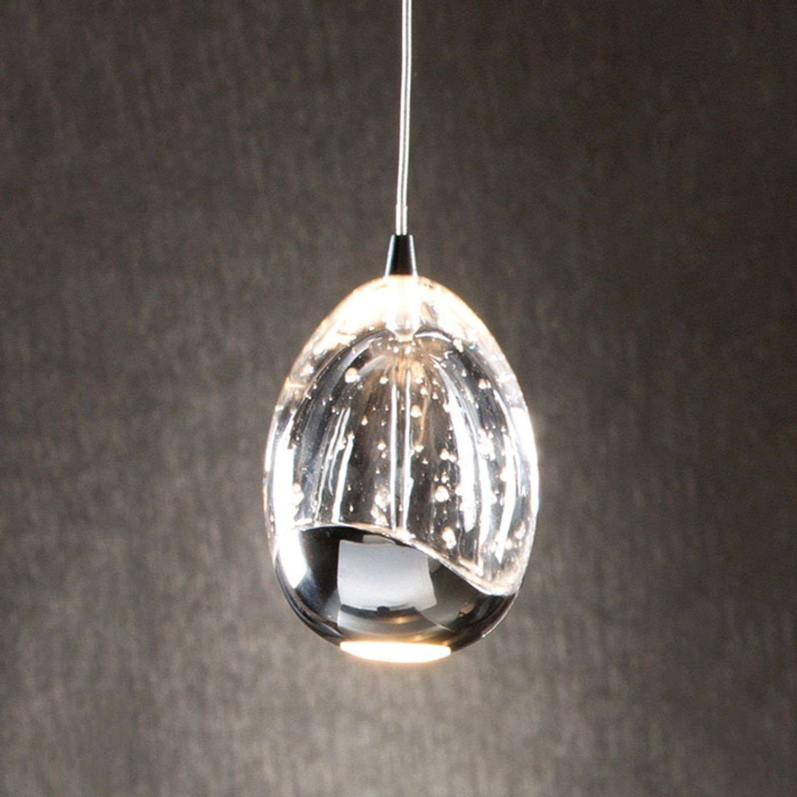 Rocio - suspension LED 1 lampe, chromée
