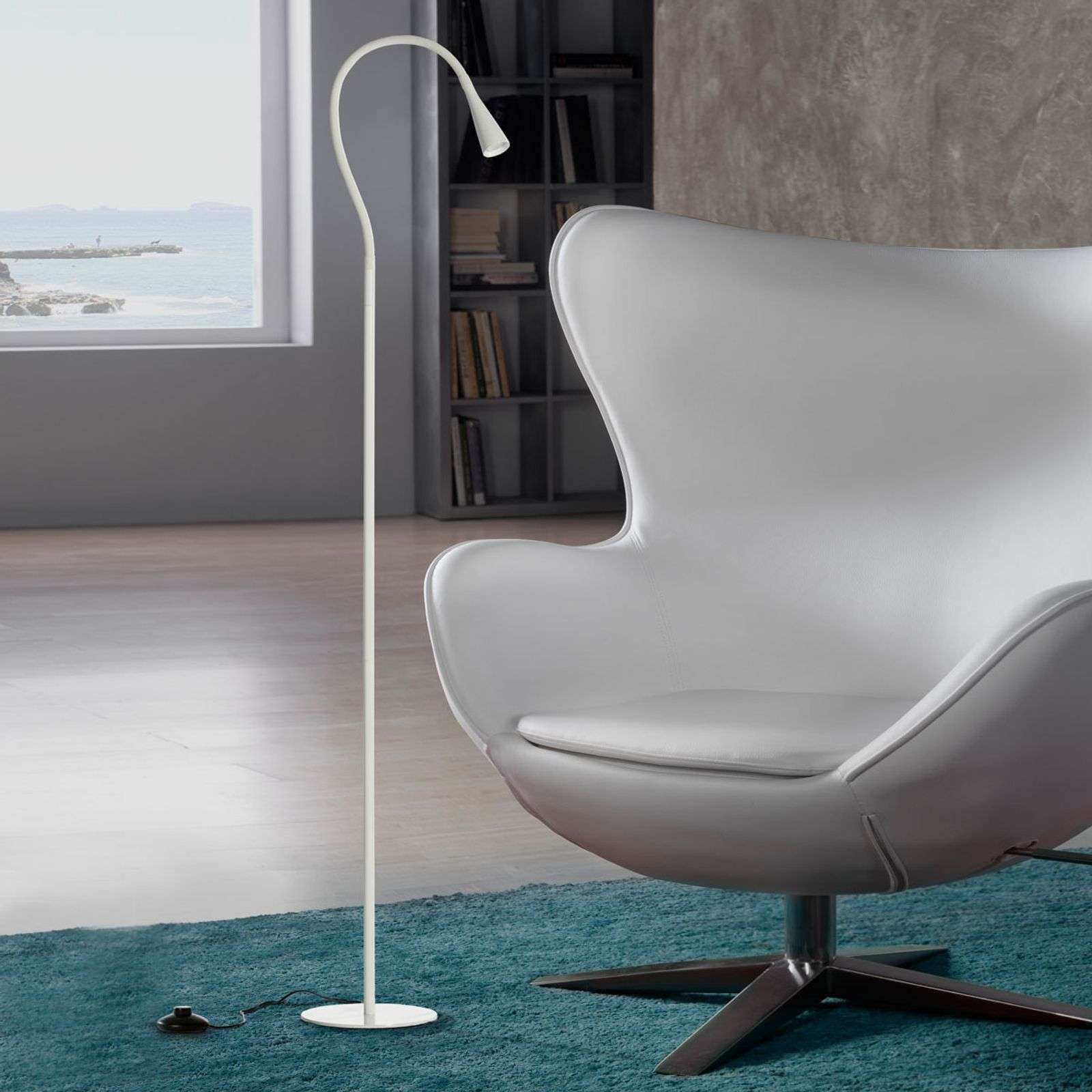 Lampadaire LED blanc Ion, flexible
