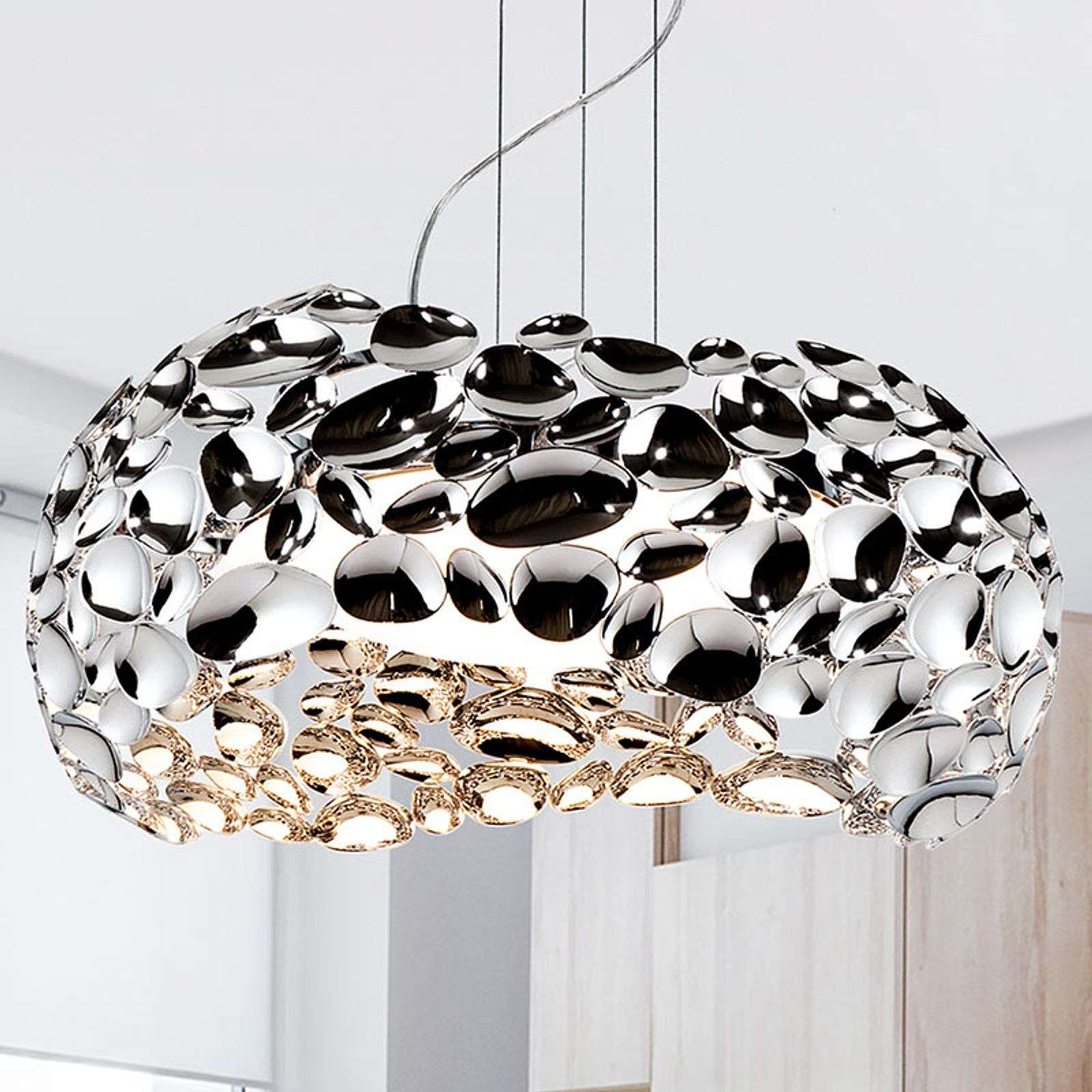 Suspension LED Narisa 47 cm brillant chromé