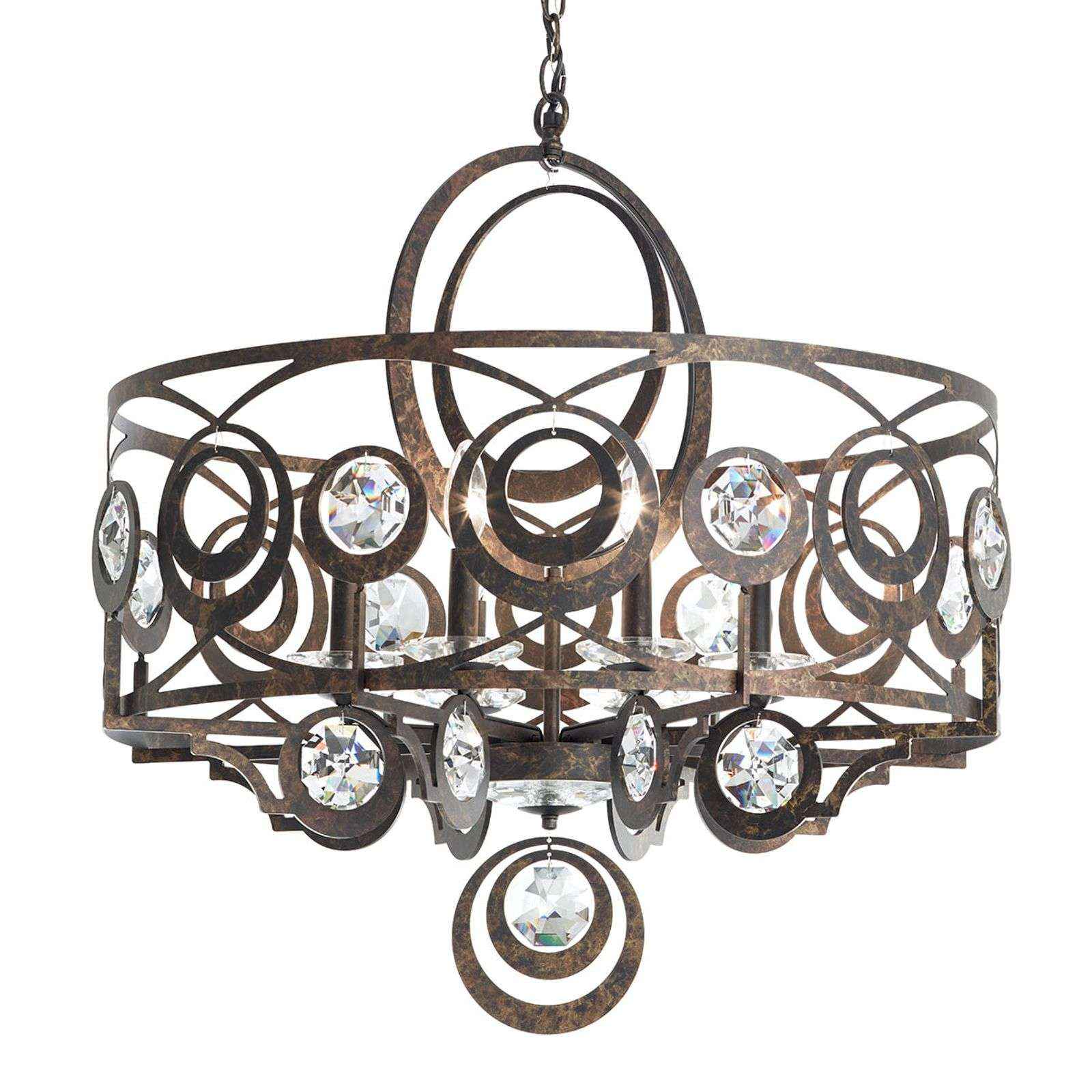 Suspension en cristal couleur bronze Gwynn