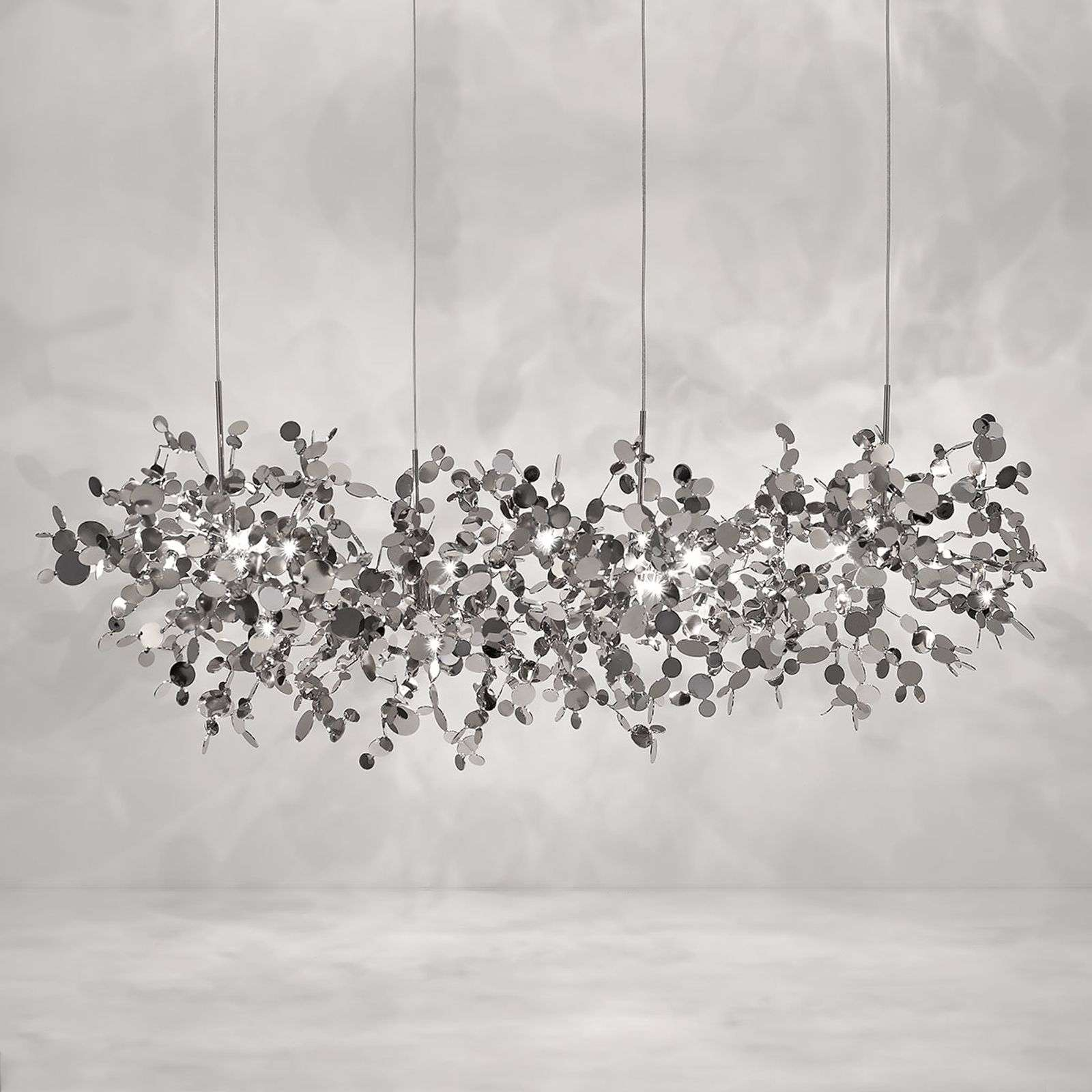 Suspension Argent 125 cm