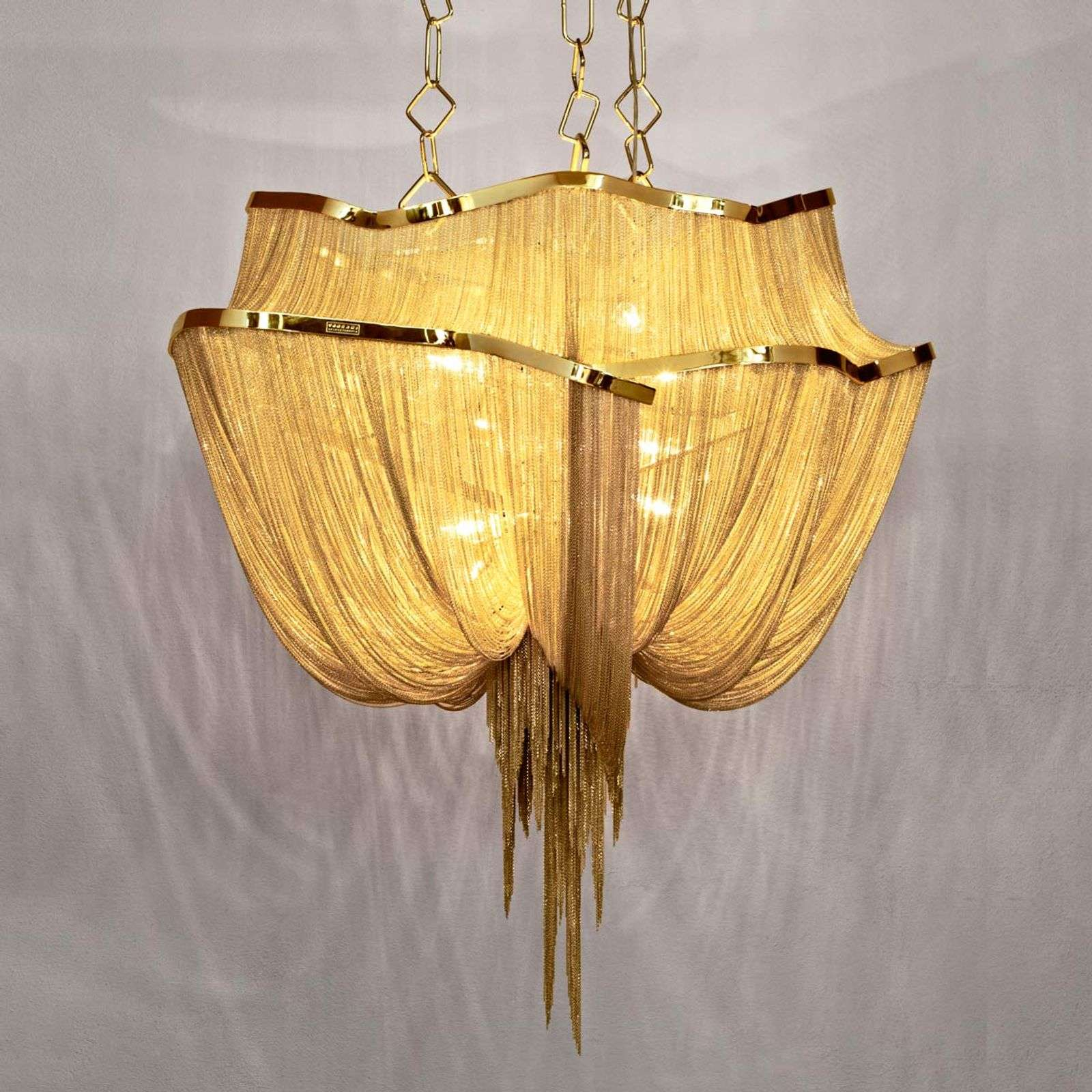 Suspension de designer dorée Atlantis 90 cm