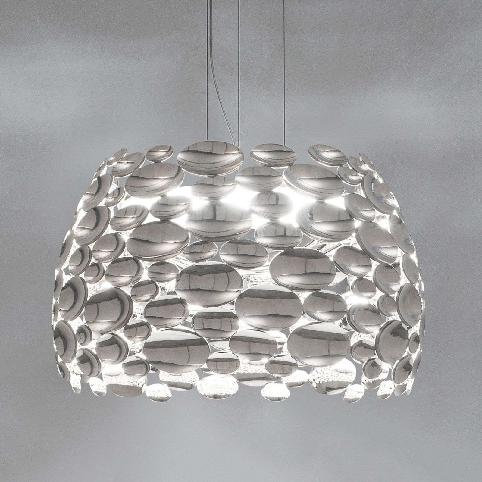 Suspension LED couleur nickel Anish - Ø 44 cm