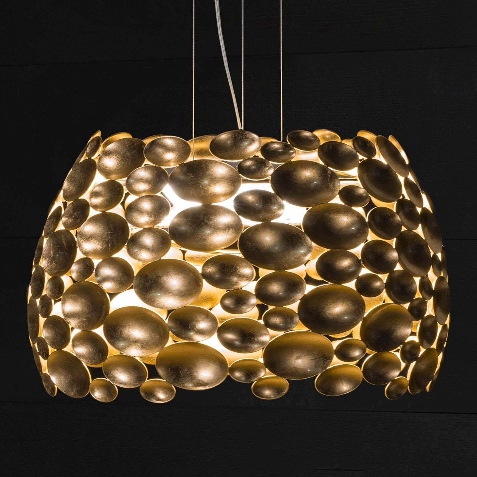 Suspension LED dorée Anish - Ø 44 cm