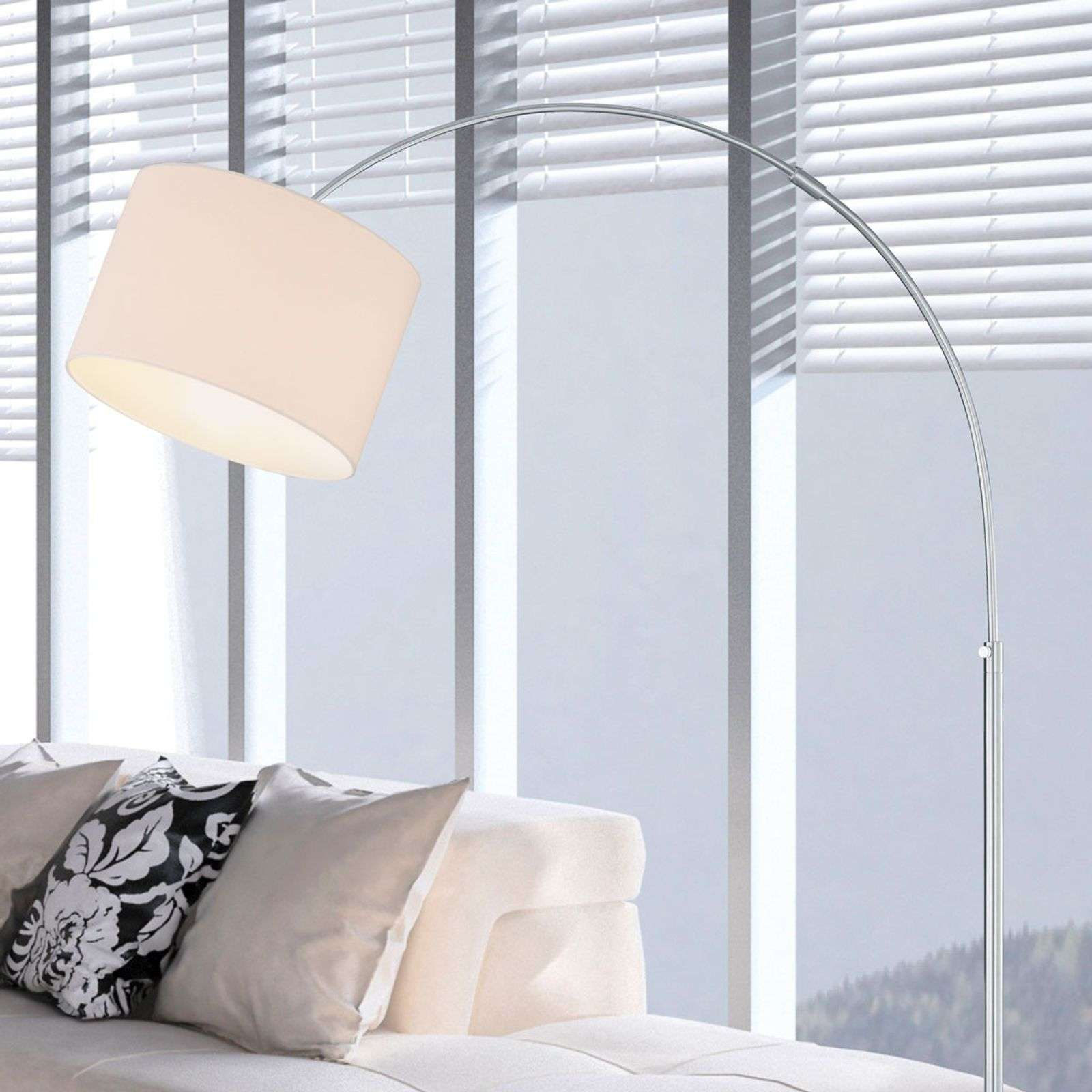 lampadaire arqu risa avec abat jour textile ccdh moselle. Black Bedroom Furniture Sets. Home Design Ideas