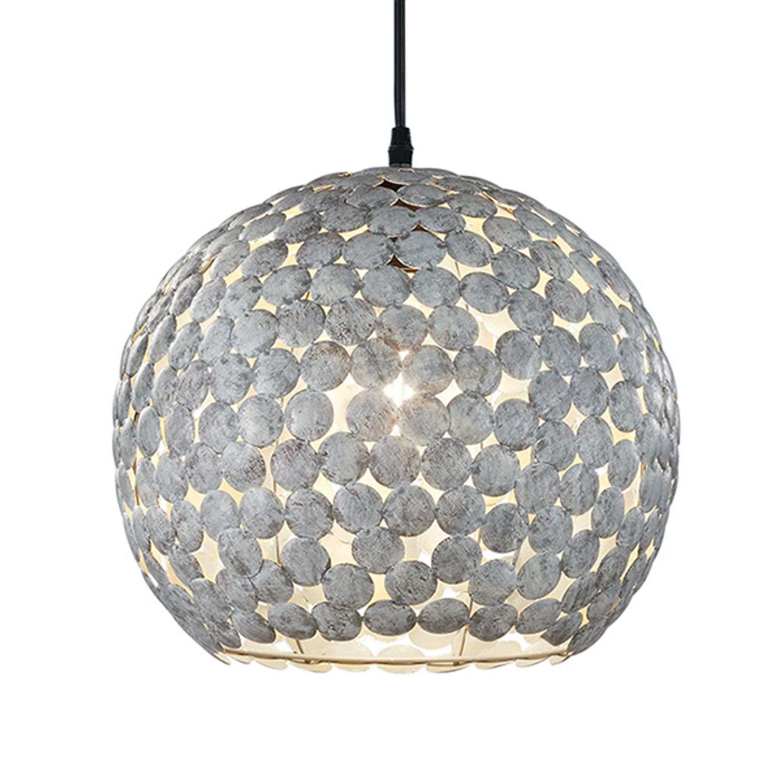 Belle suspension Frieda, gris antique