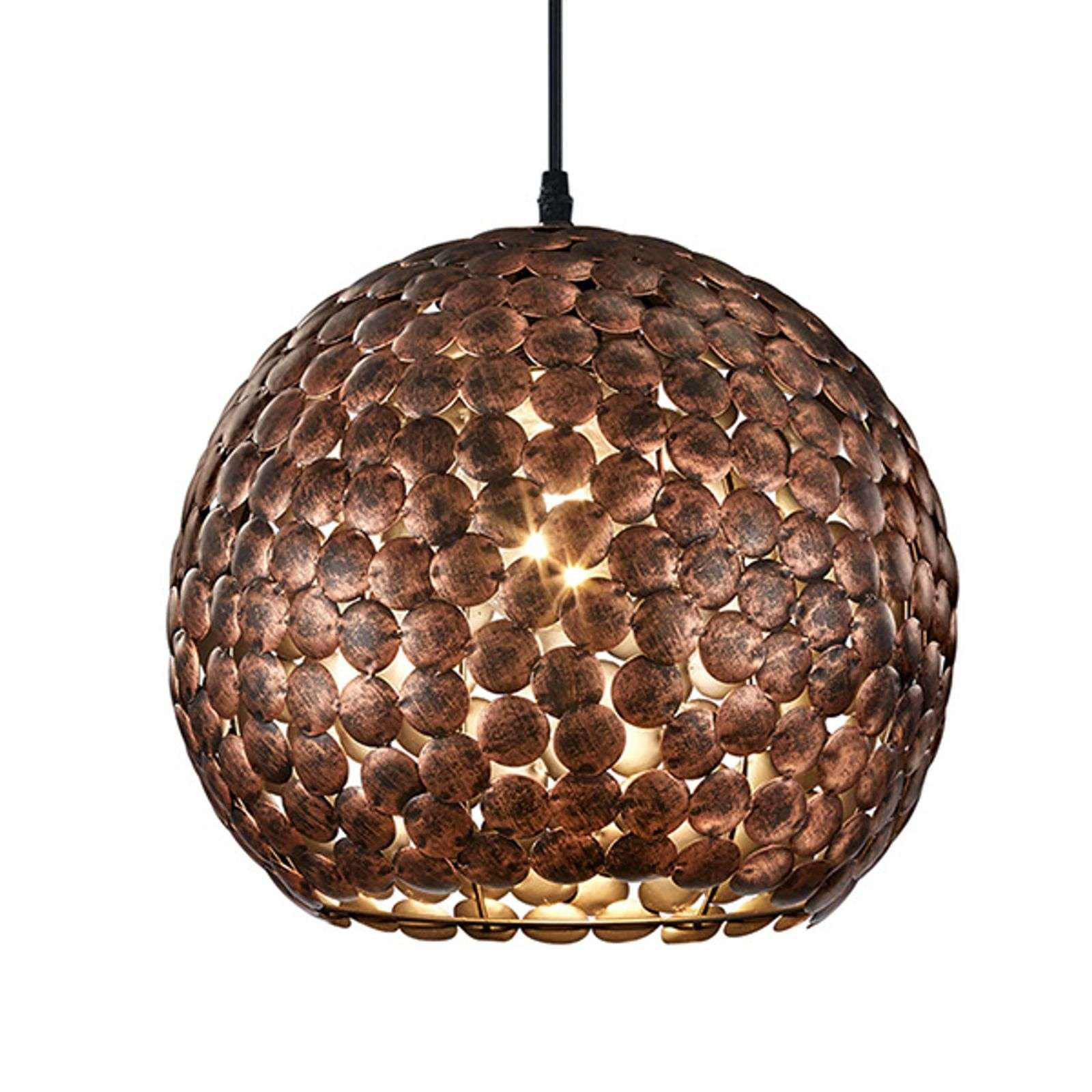 Belle suspension Frieda, cuivre antique