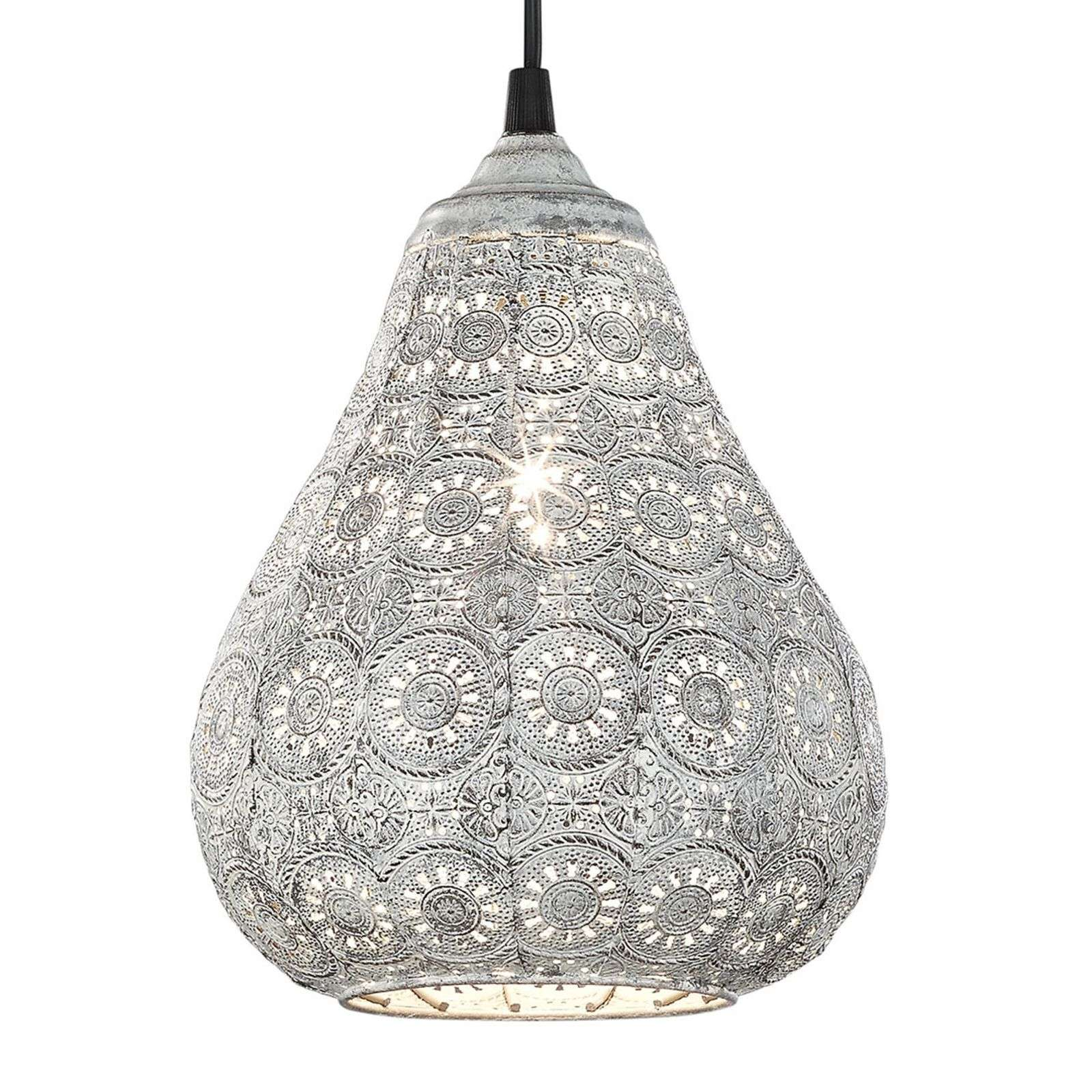 Suspension Jasmin, gris antique