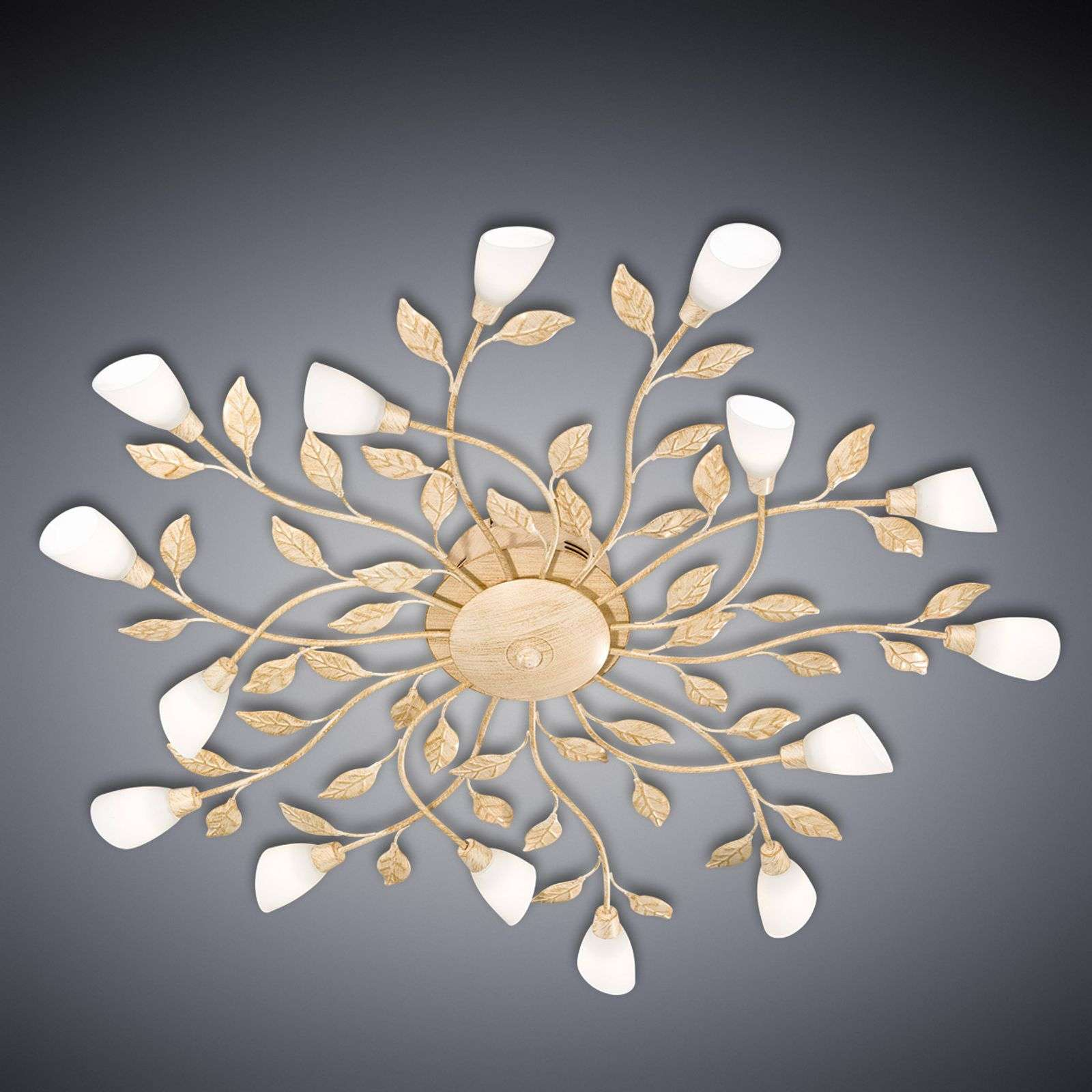 Plafonnier LED Jela florentin blanc antique