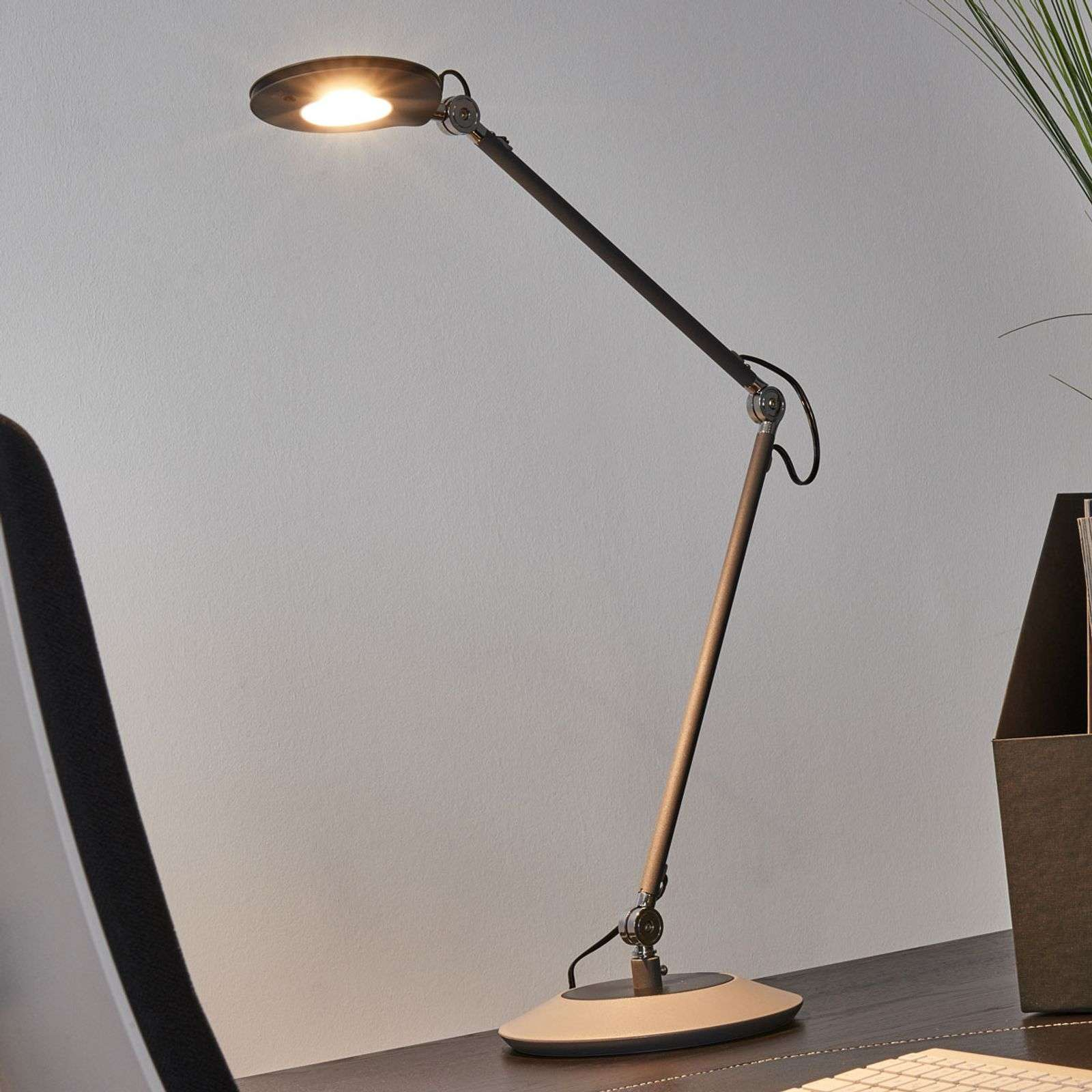 Lampe à poser LED Roderic anthracite