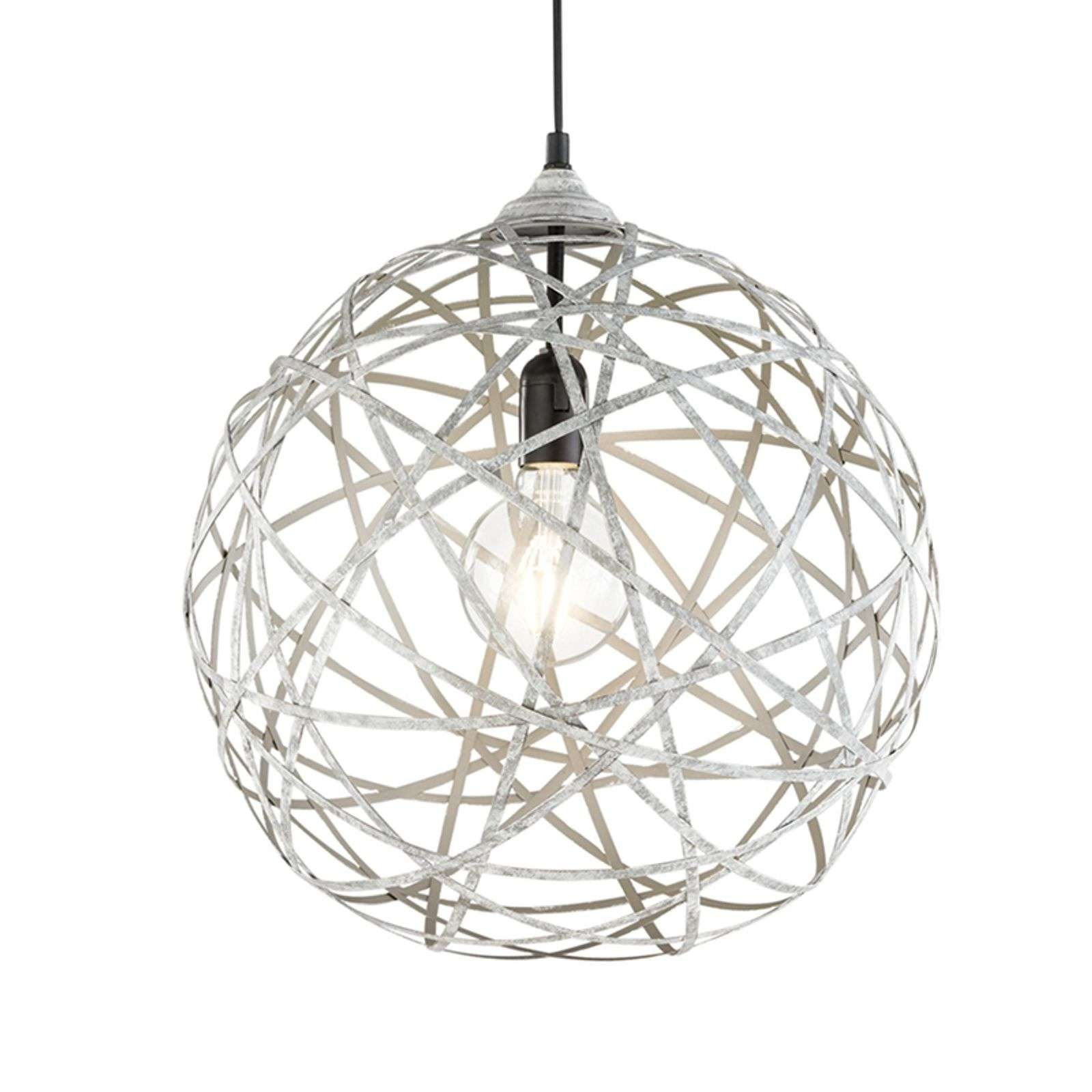 Très belle suspension Jacob, gris antique