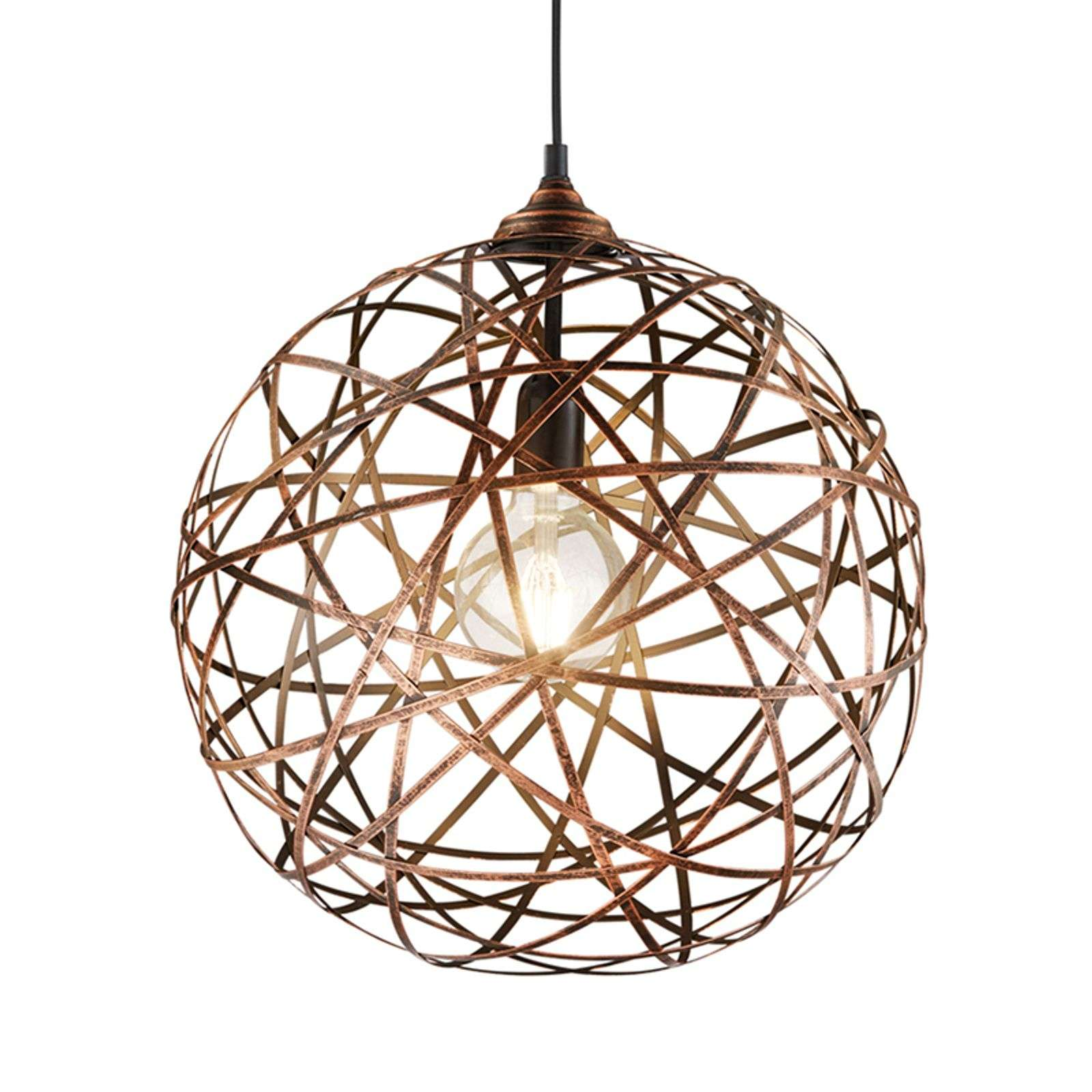 Suspension Jacob, couleur cuivre antique