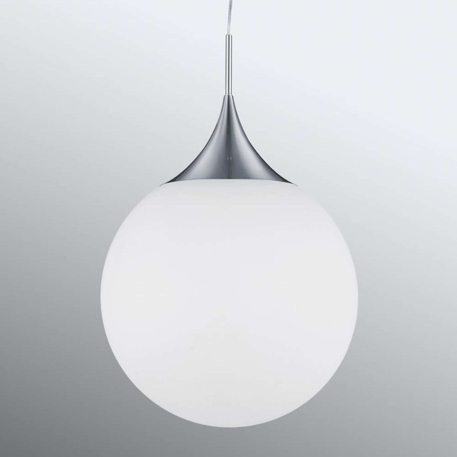 Suspension en verre intemporelle Midas, en blanc