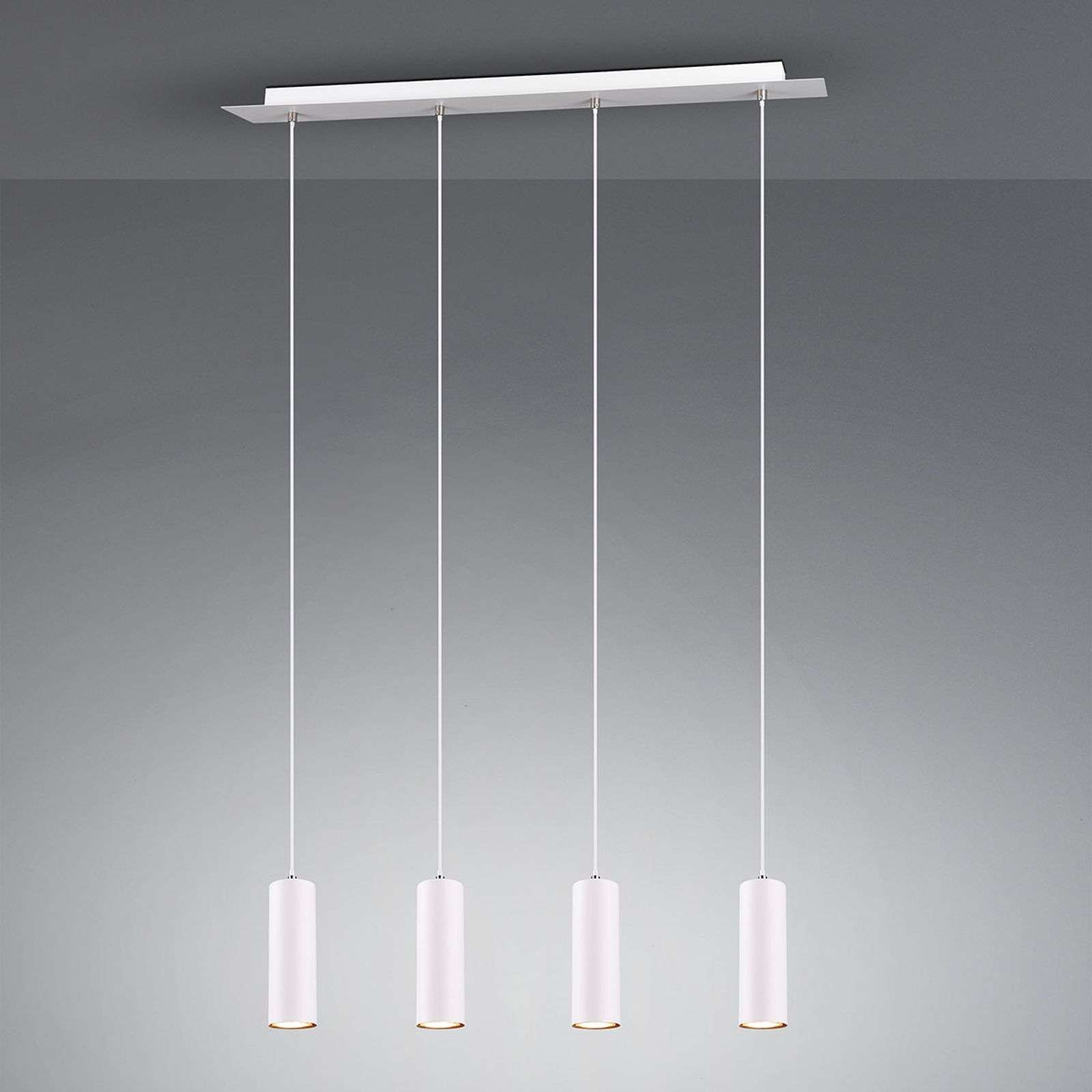 Suspension Marley, blanc, 4 lampes