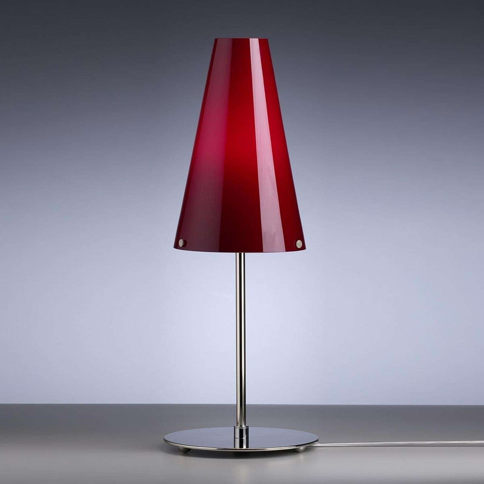 Lampe à poser rouge Walter Schnepel