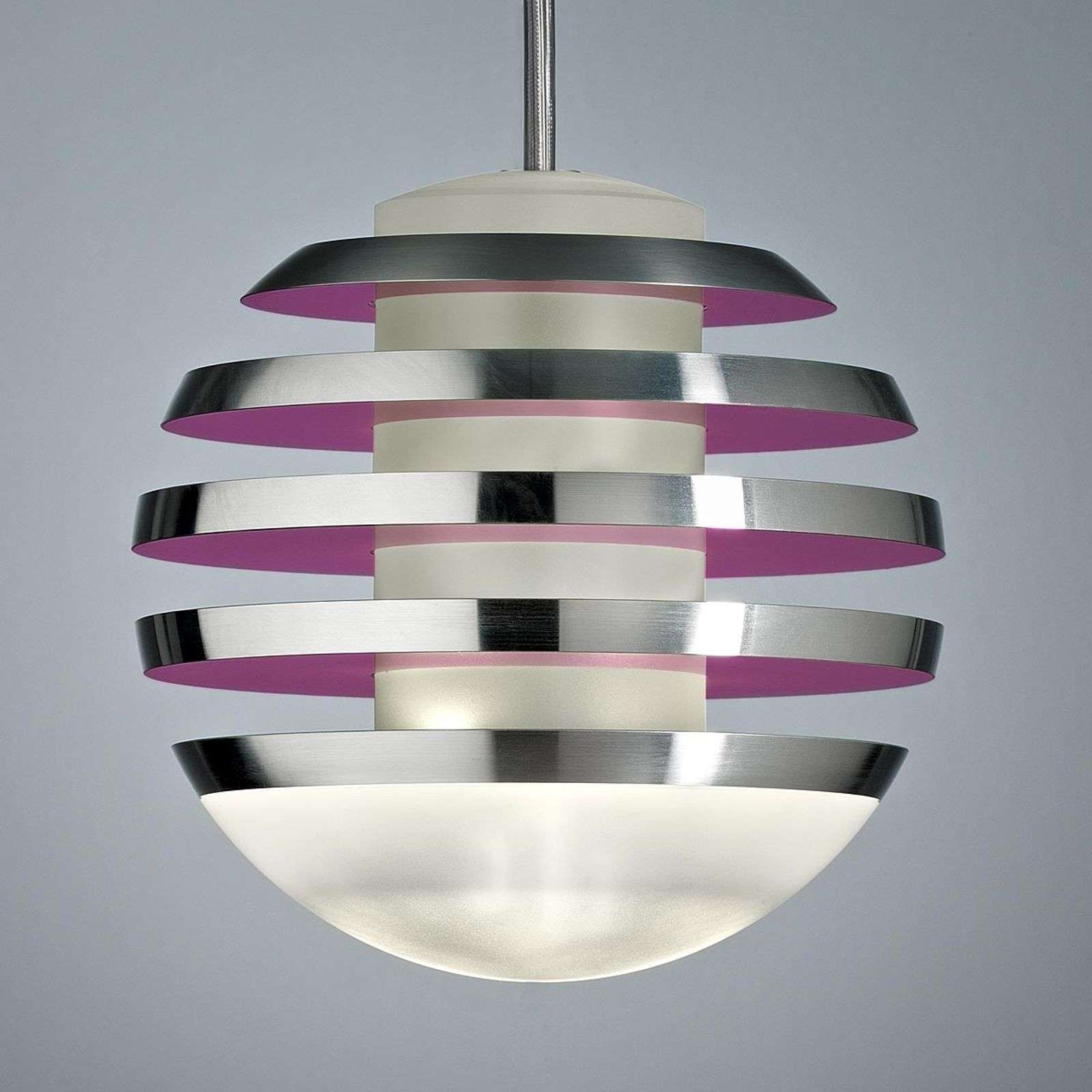 Suspension rouge-fraise LED BULO