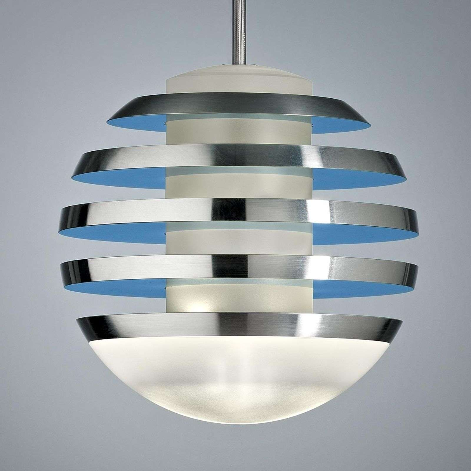 Suspension bleue-claire LED BULO
