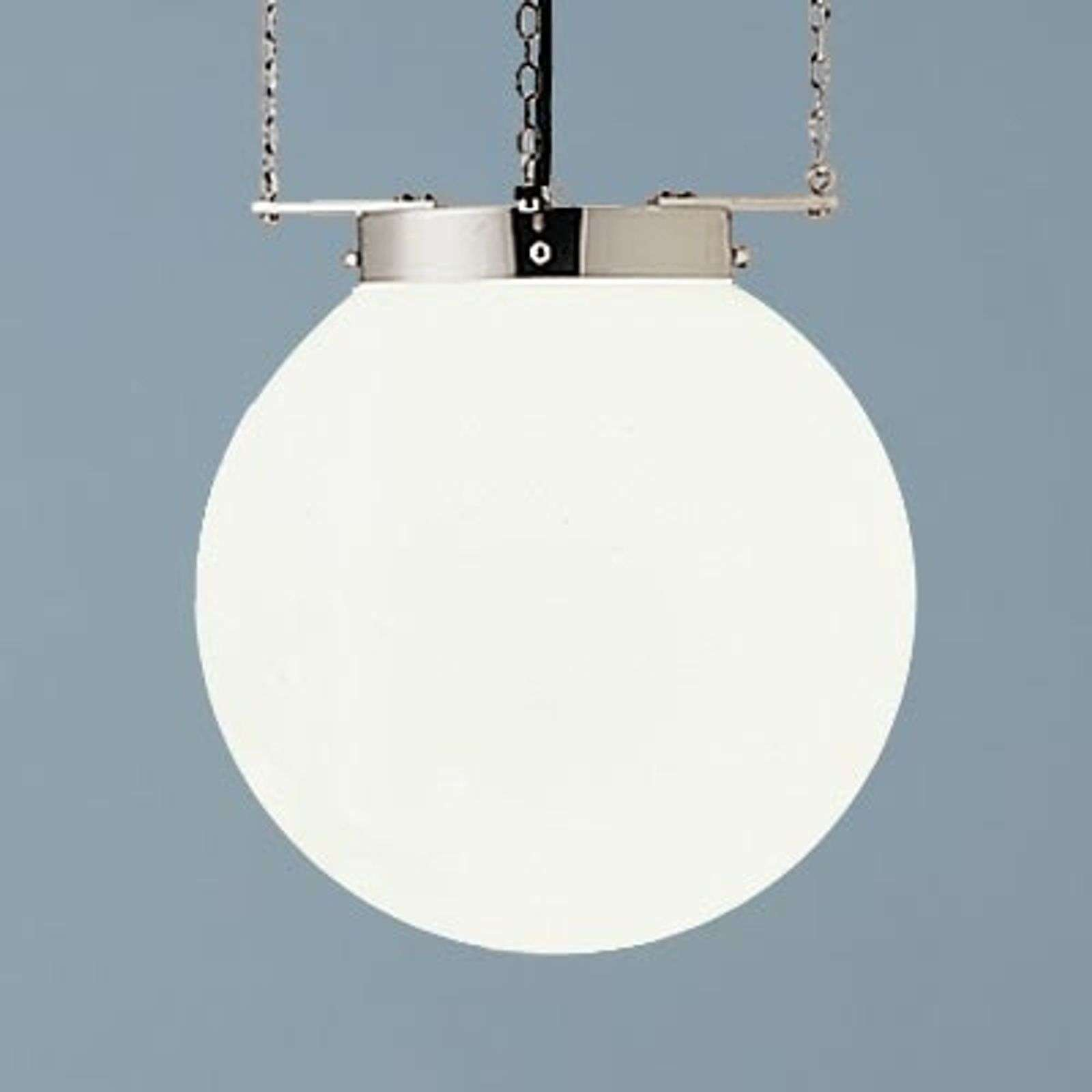 Suspension nickel style Bauhaus 35 cm