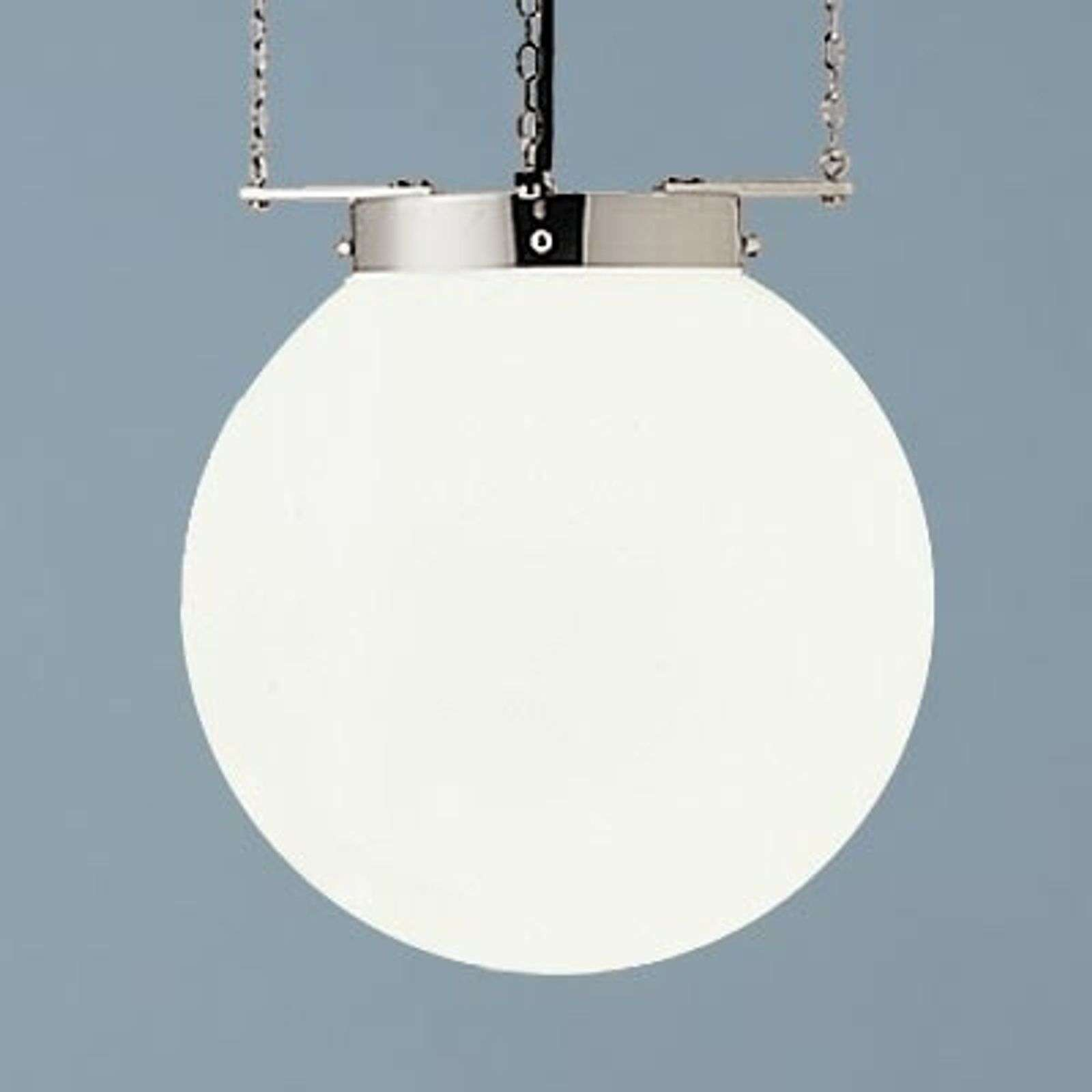 Suspension nickel style Bauhaus 40 cm