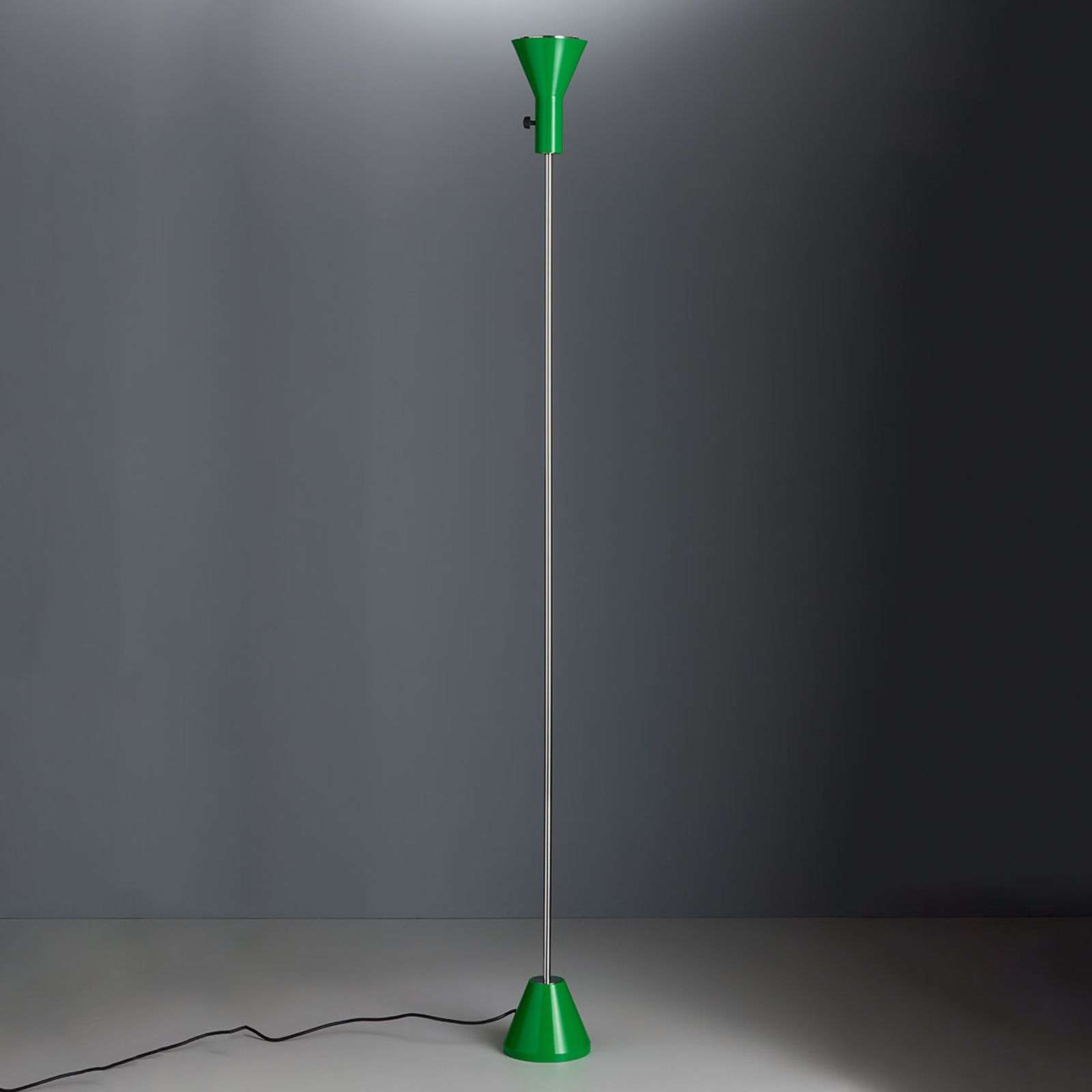 Lampadaire LED vert Gru, dimmable