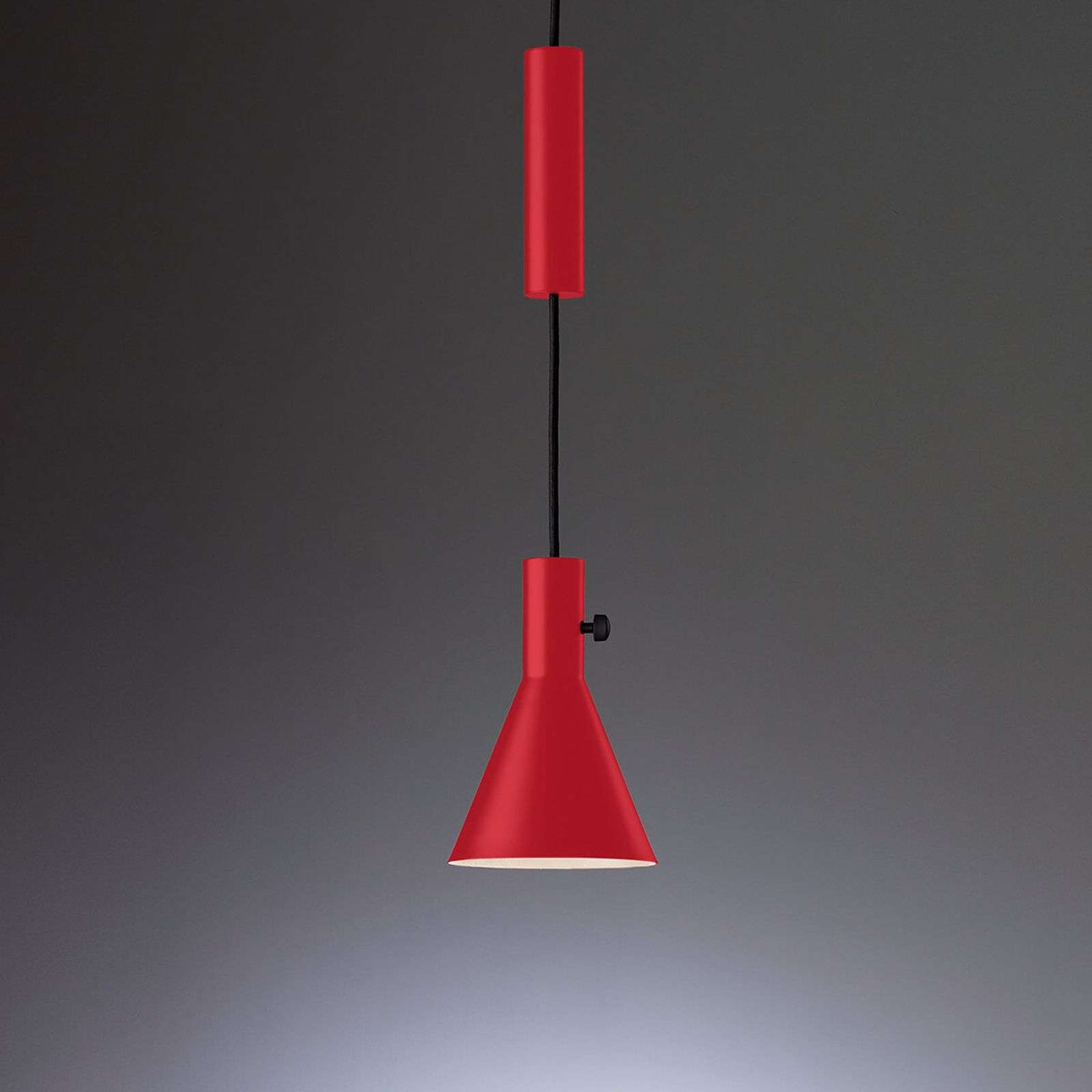 Suspension LED ultra-moderne Eleu en rouge