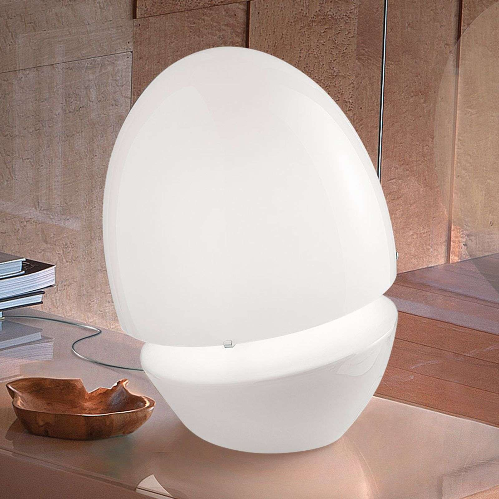 Lampe de table en verre ovale Jo