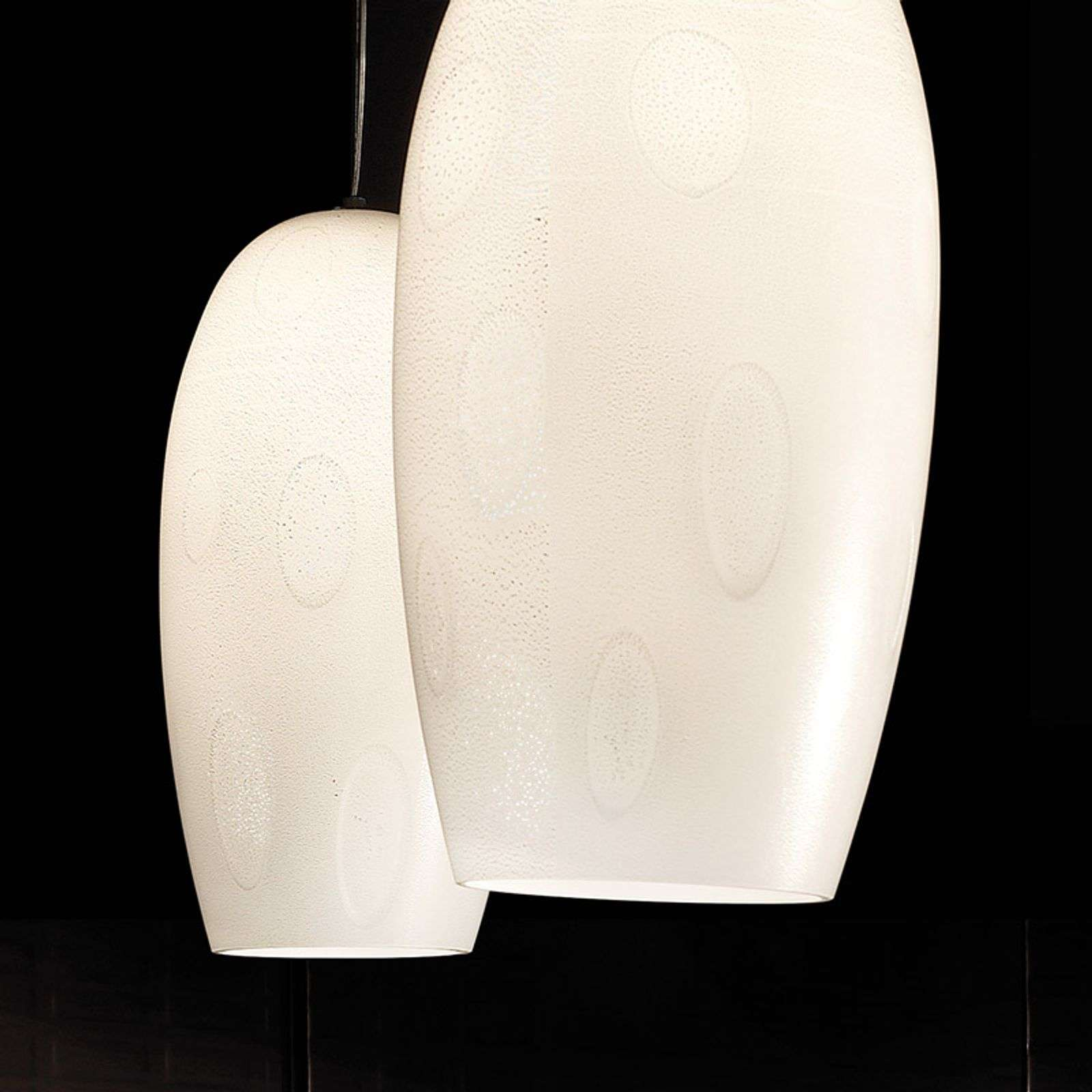 Lampe à suspension deux flammes Marble