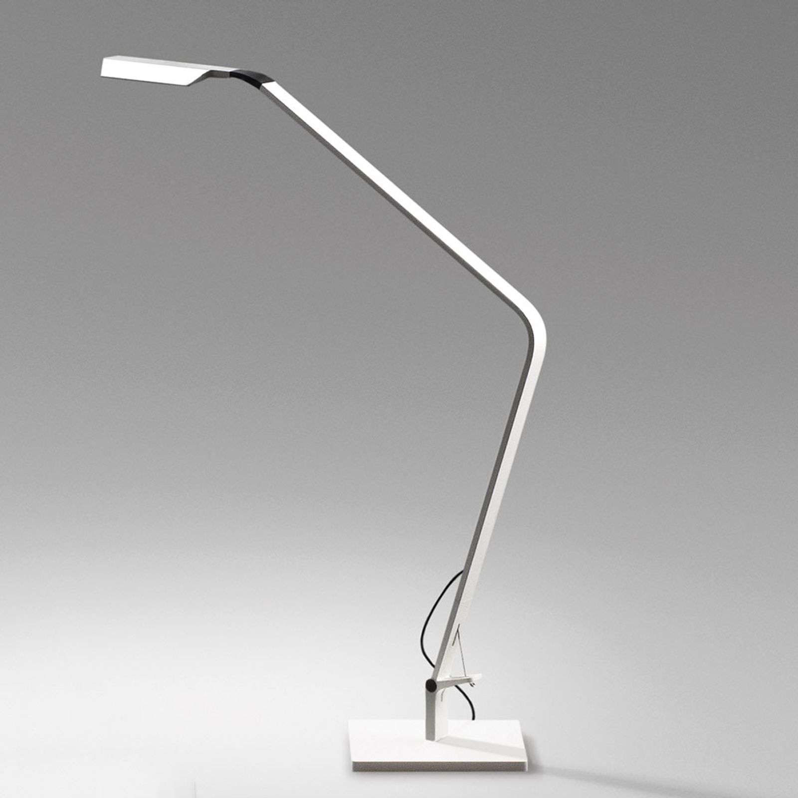 Lampe à poser LED Flex dimmable, blanc mat