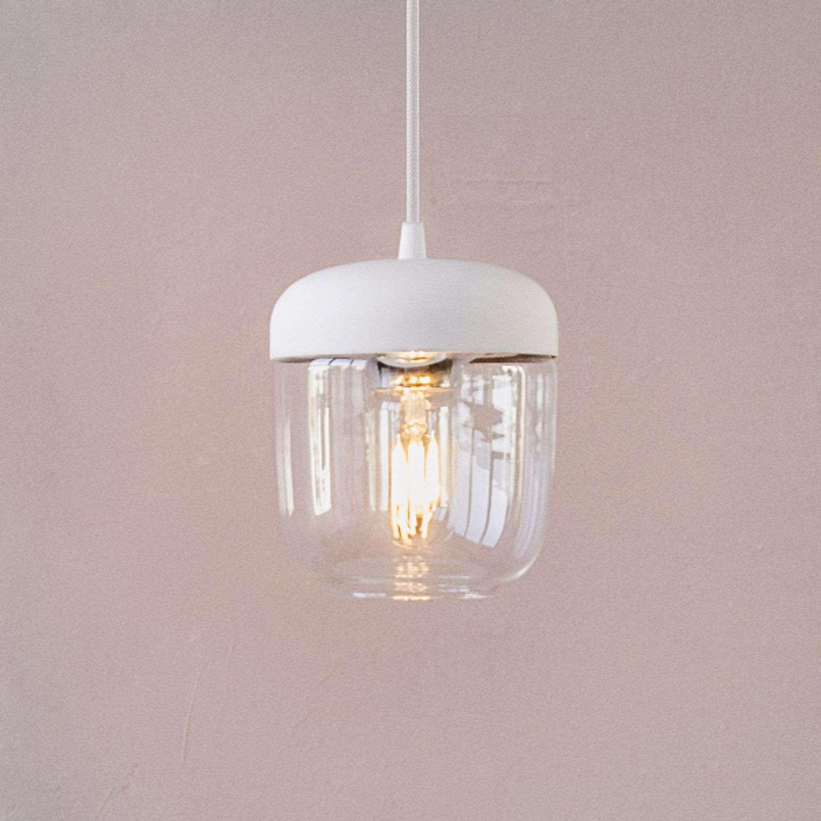 Suspension design Acorn, blanc et laiton