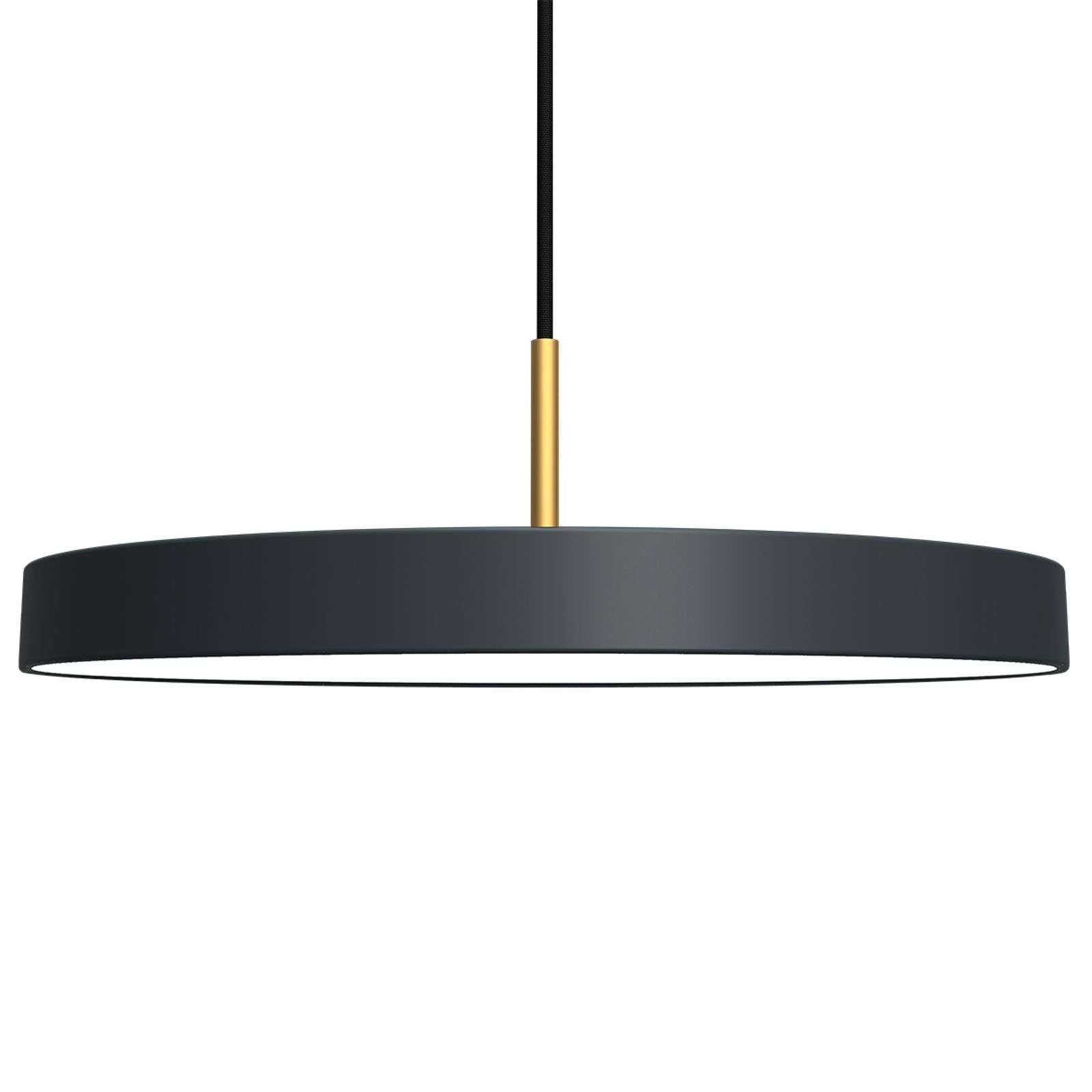 Suspension LED futuriste Asteria anthracite