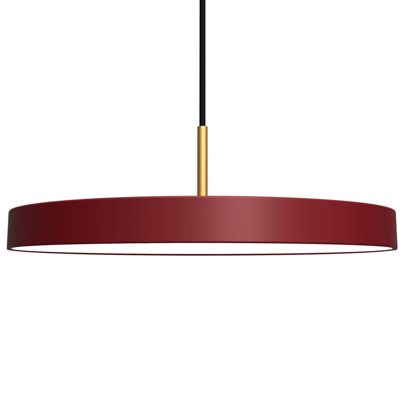 Suspension LED futuriste Asteria rouge