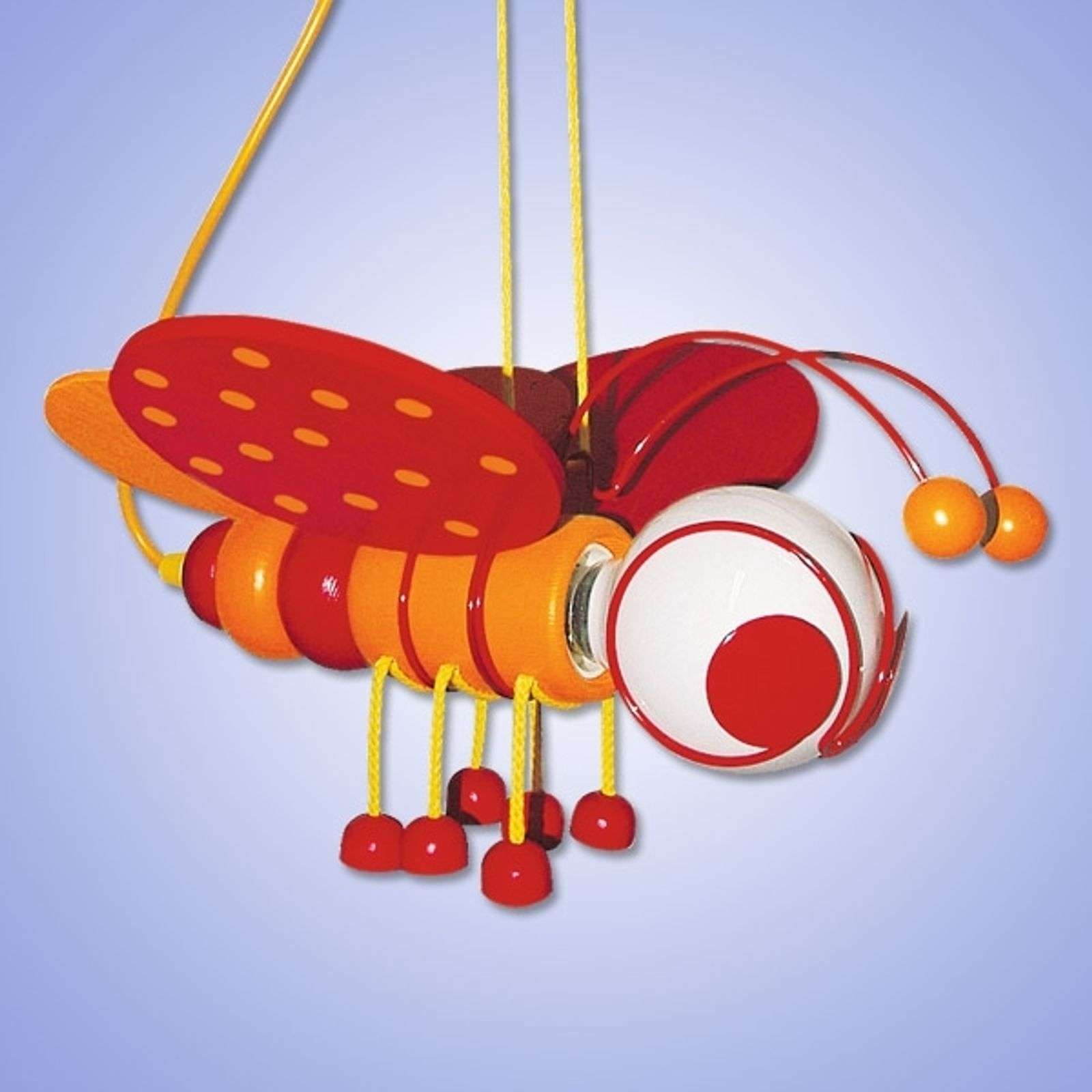 Jolie suspension ABEILLE, rouge