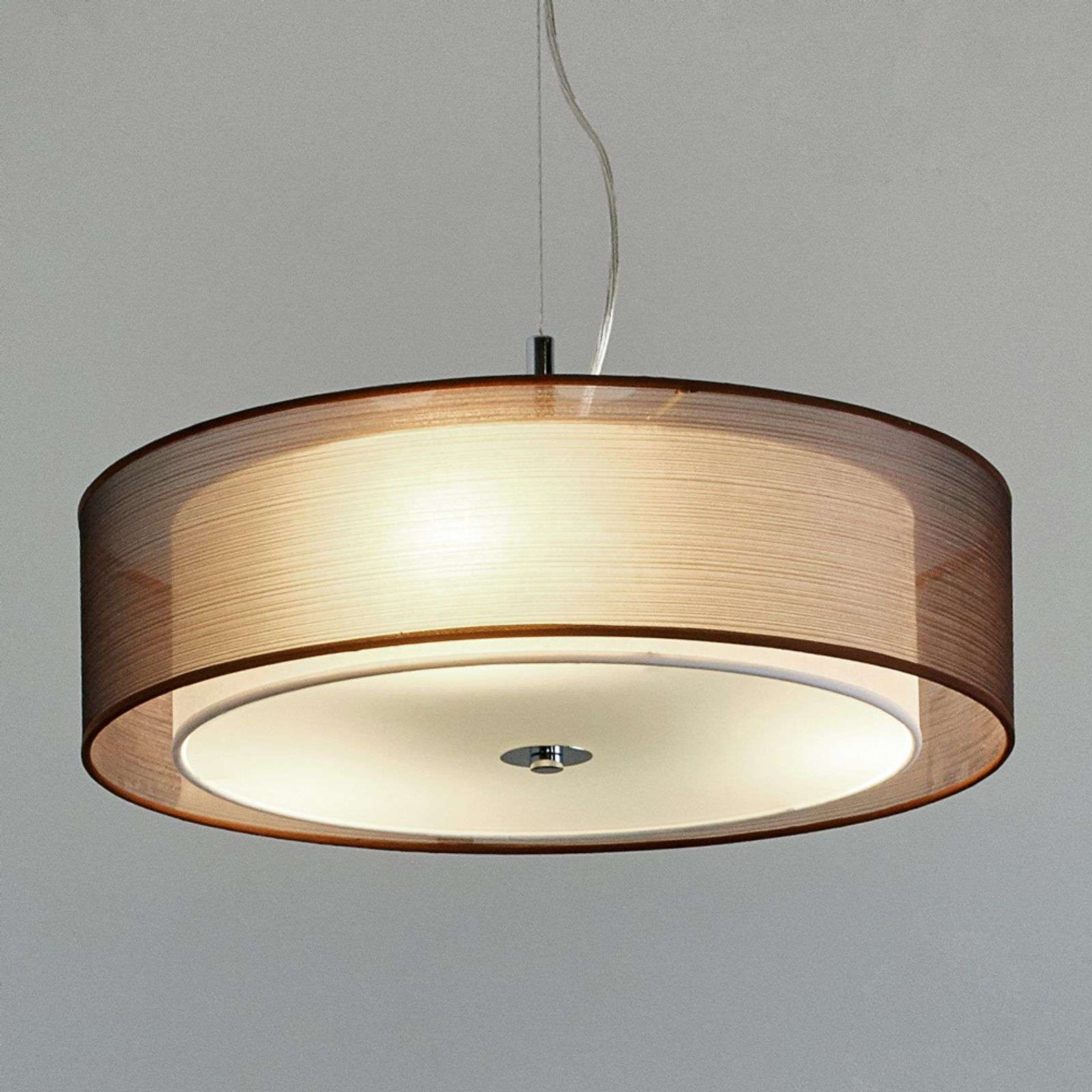 Suspension tissu LED Pikka couleur chocolat