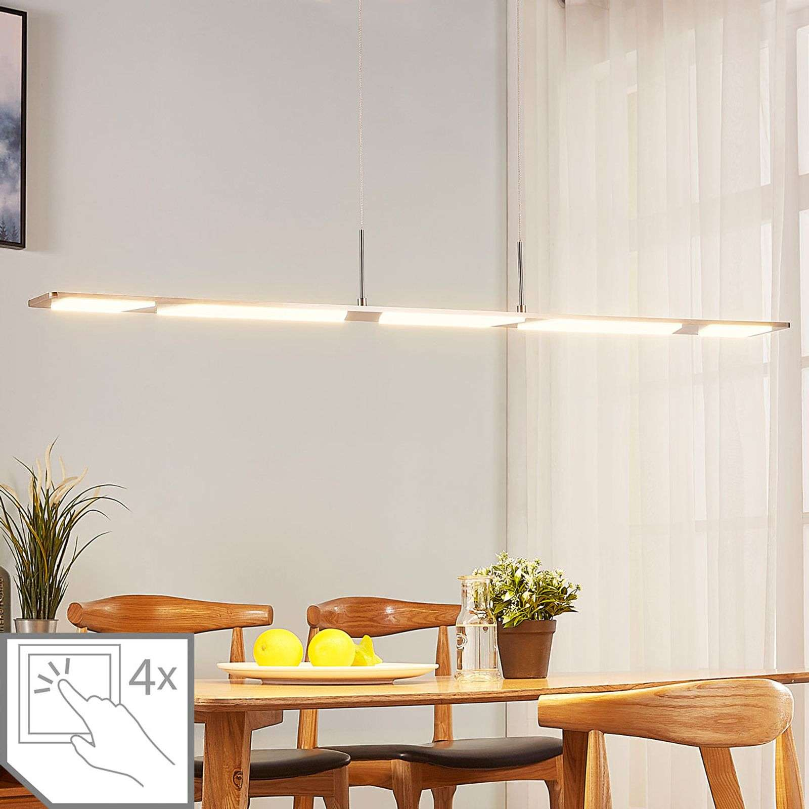 Suspension LED Stephanie, dimmable, 120cm