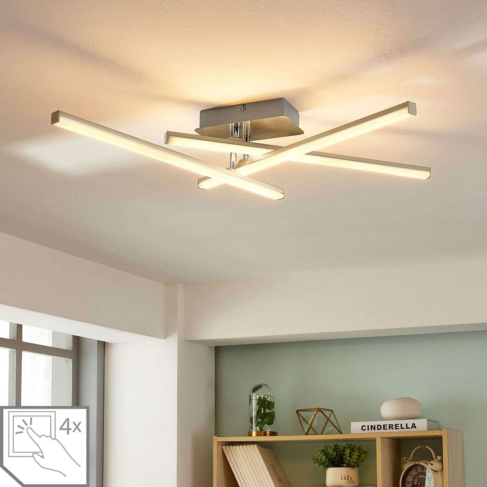 Plafonnier LED dimmable Laurenzia, 3 lampes