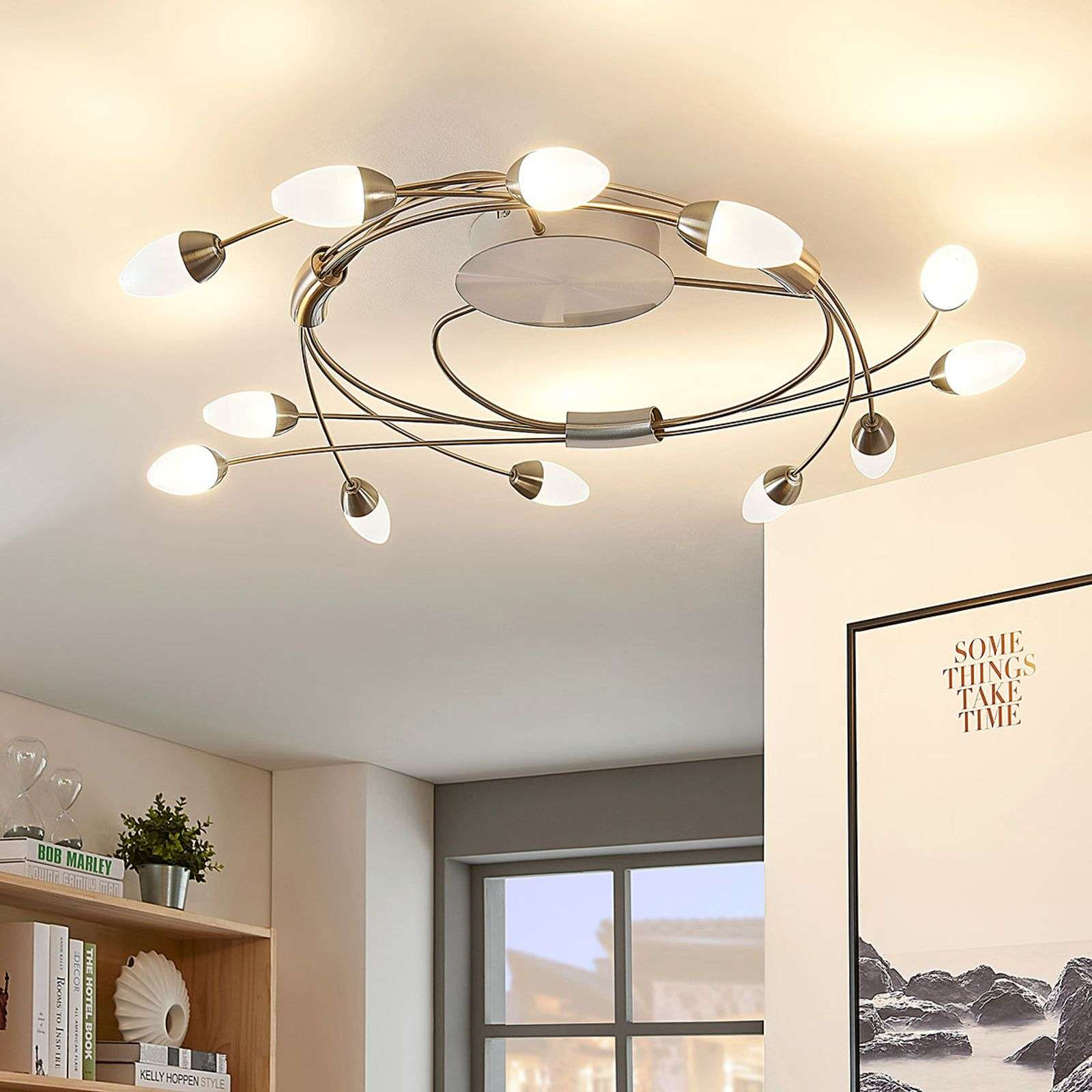 Plafonnier LED Deyan, dimmable, 12 lampes