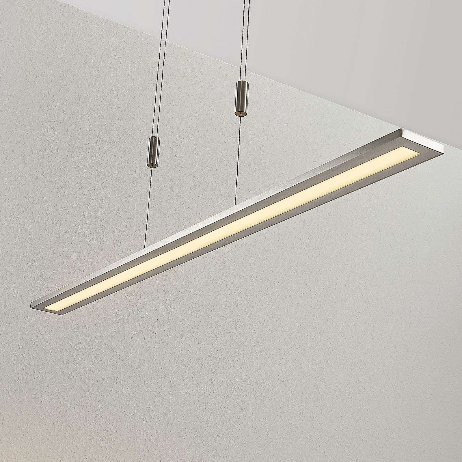 Suspension LED Esteban en nickel, dimmable