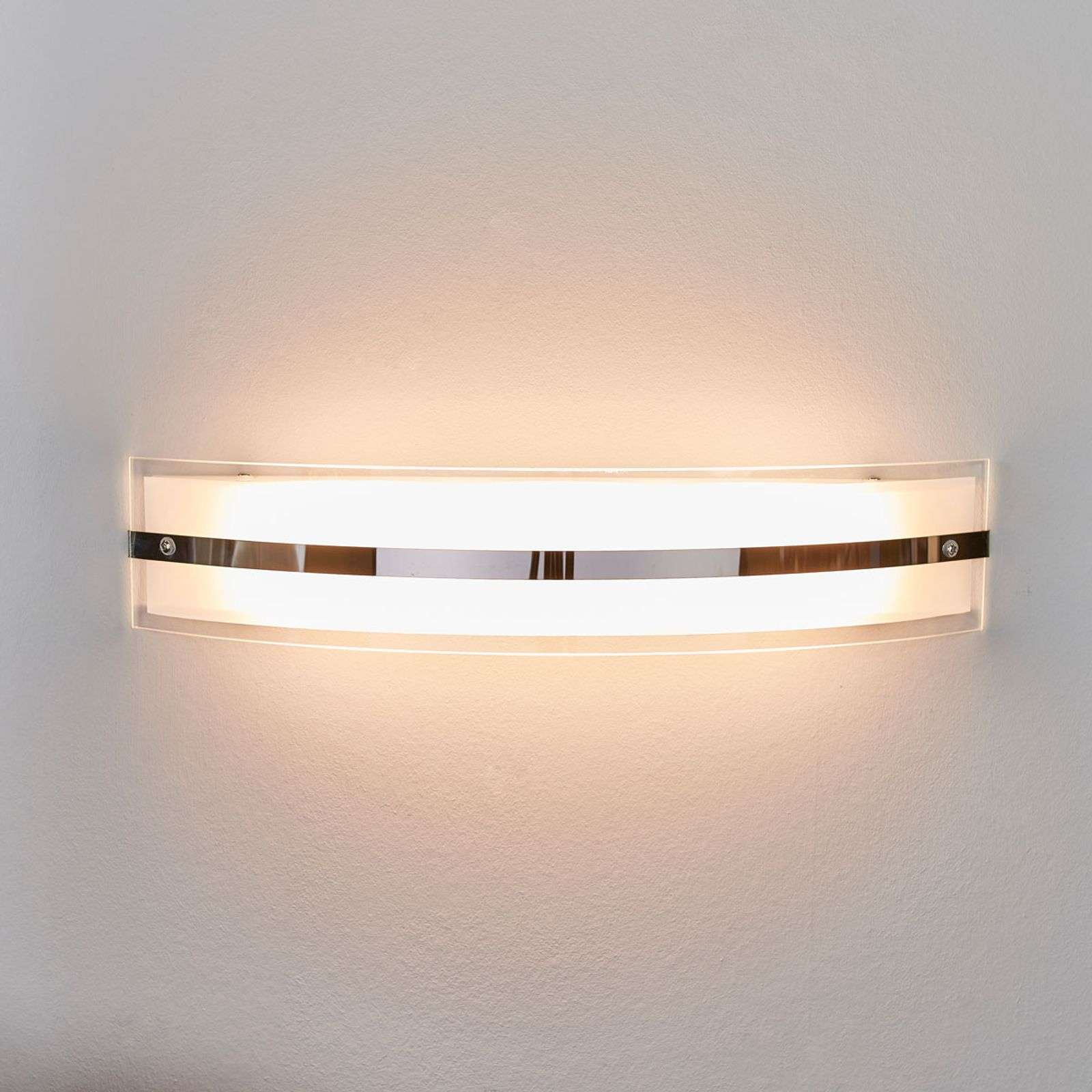 Applique LED galbée Lianda, en verre