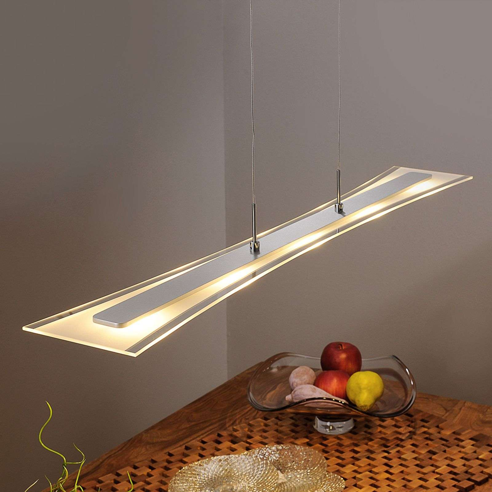 Suspension LED Runia plate en verre
