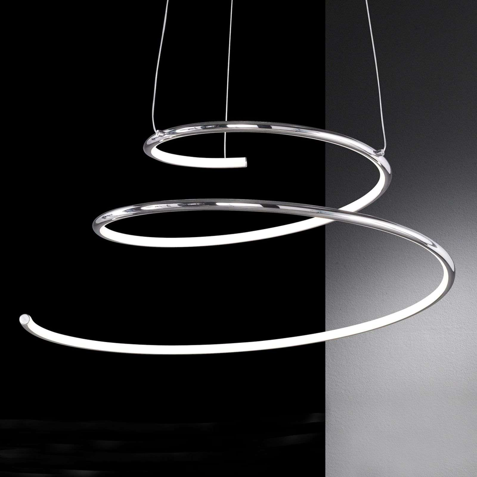 Suspension LED en forme de spirale Visio