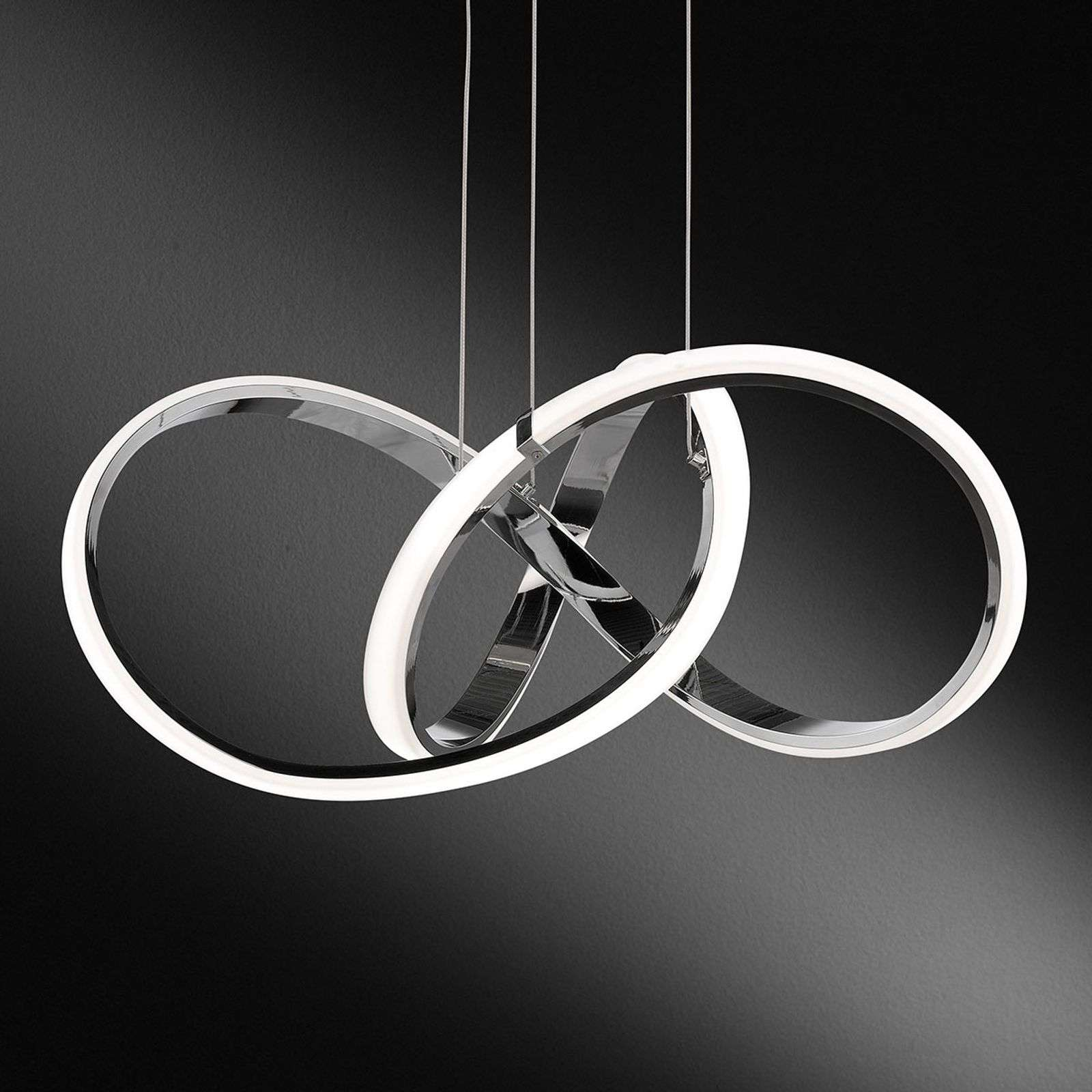 Suspension LED chromée Indigo, dimmable