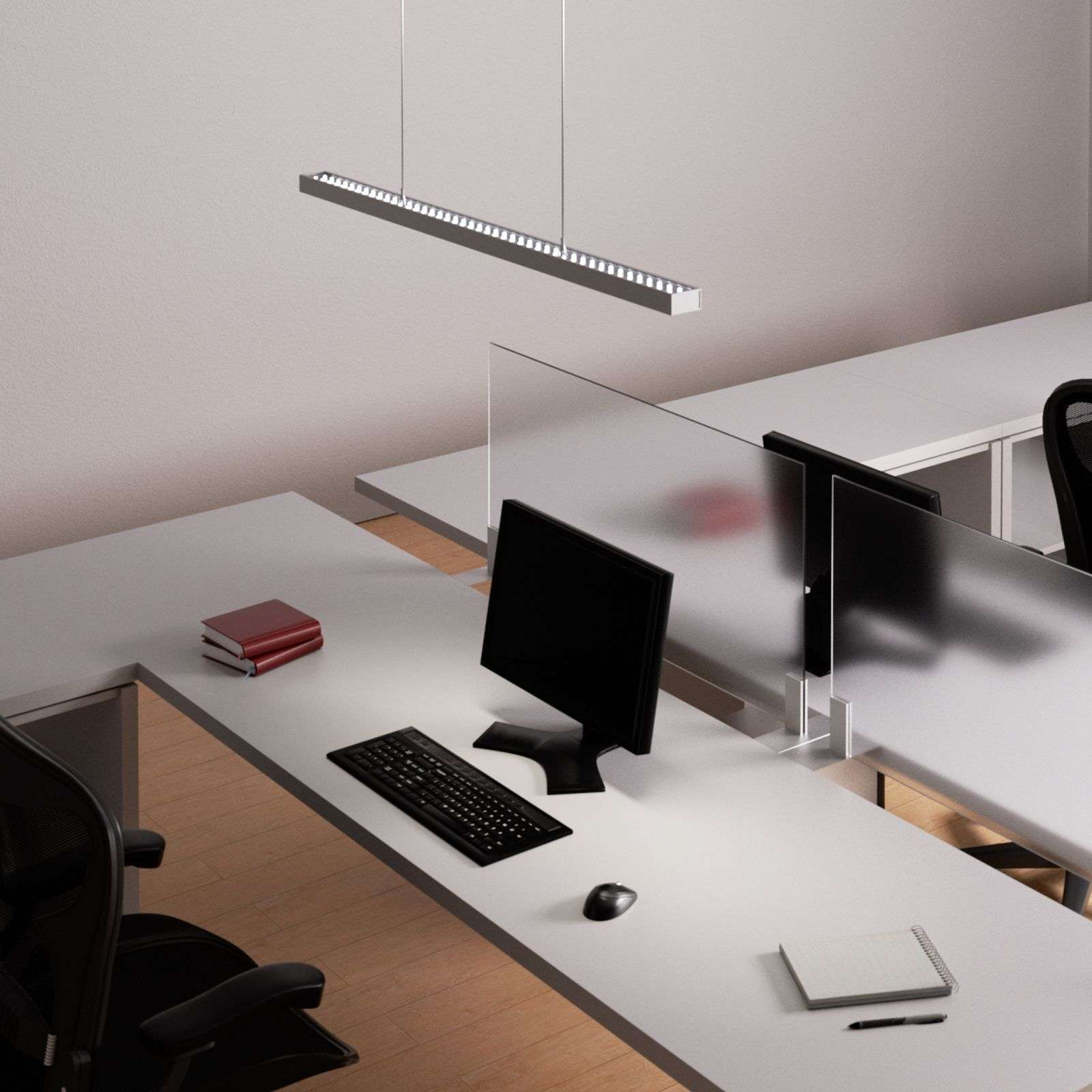 Suspension de bureau dimmable Jolinda avec LED