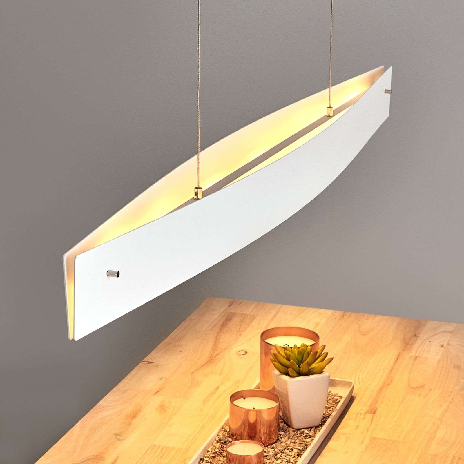 Suspension LED Malu, à intensité variable, 119 cm