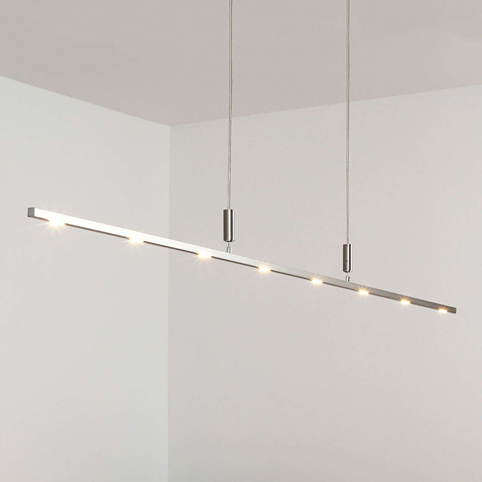Suspension LED Tolu fine à int variable 180 cm