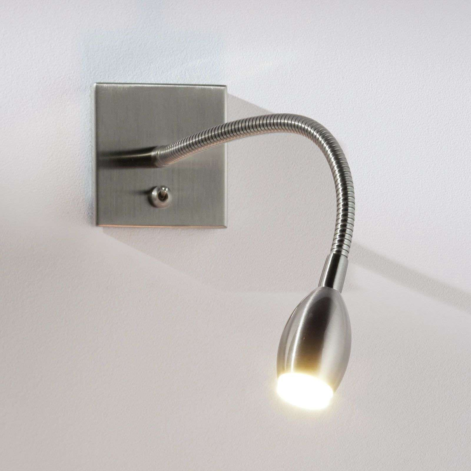Applique LED PILAR avec bras flexible, nickel